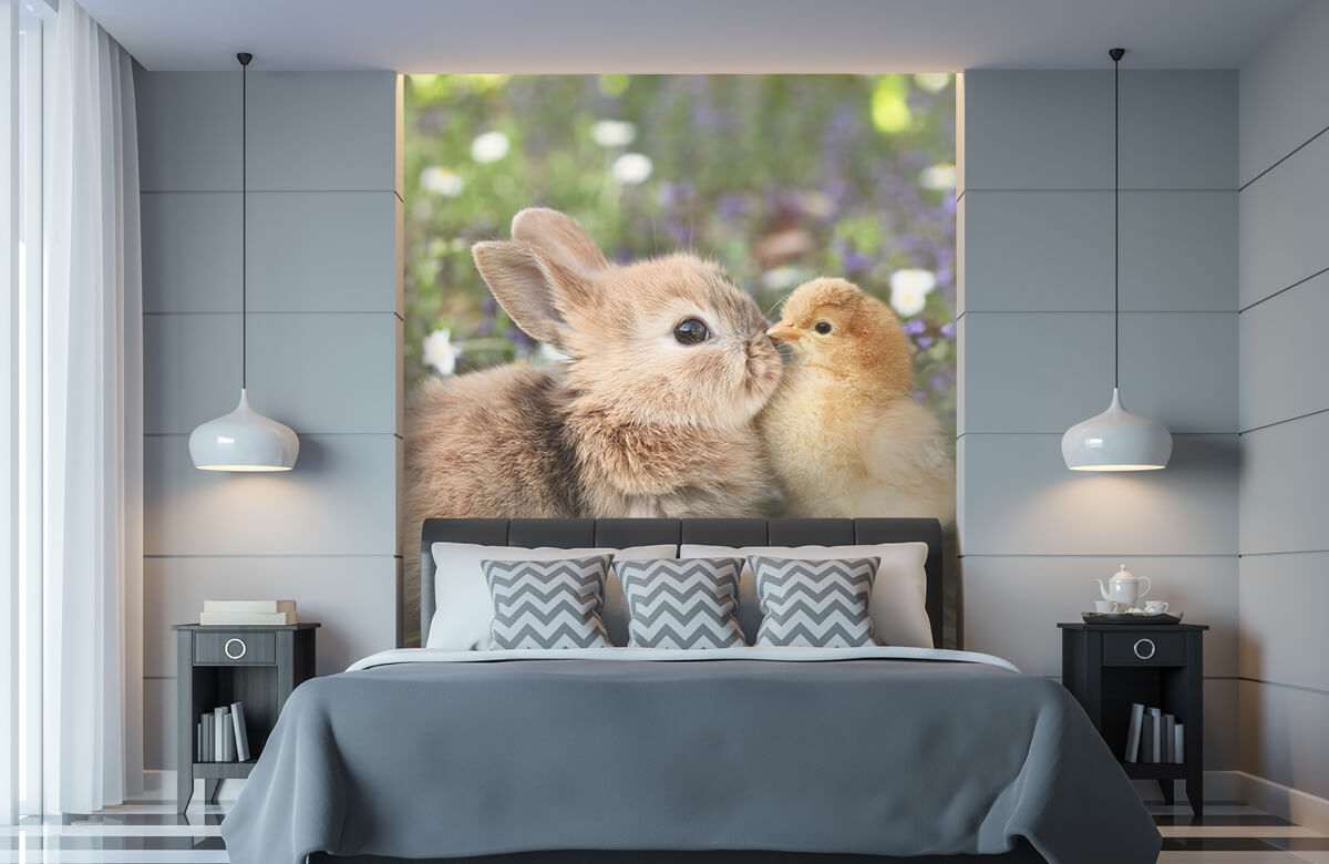 Wallpaper Rabbit and chick 11