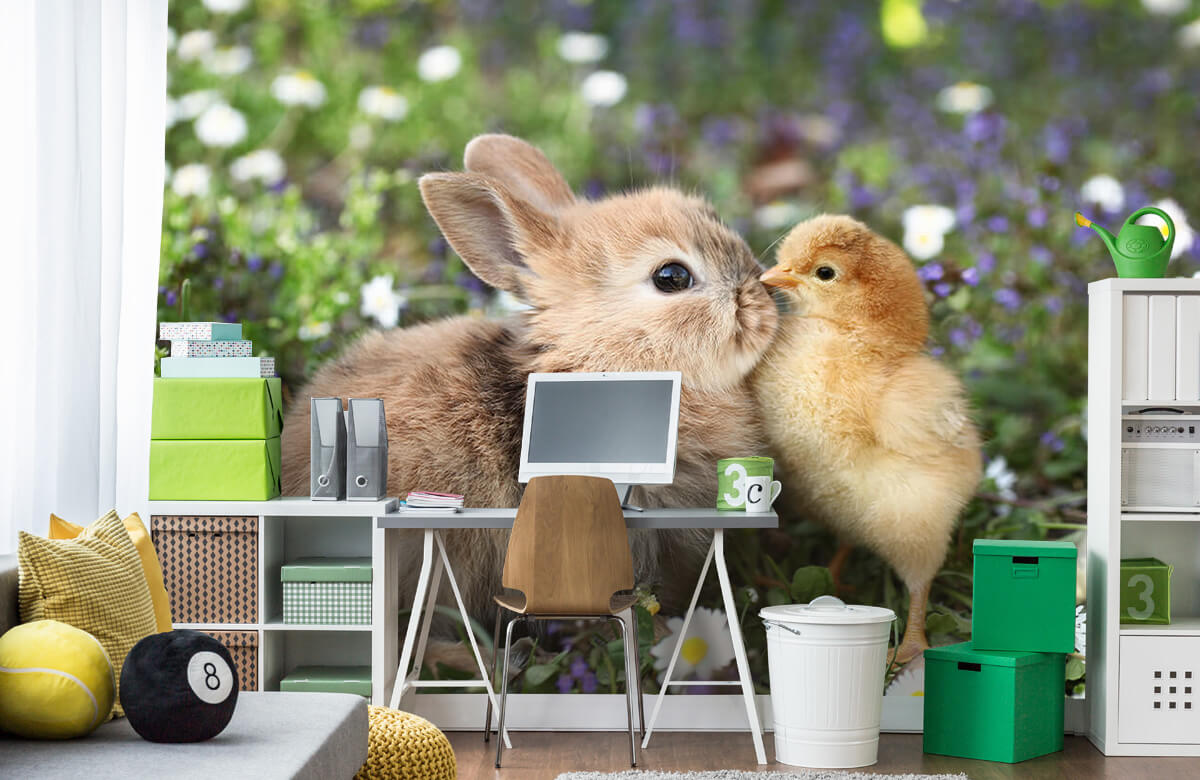 Wallpaper Rabbit and chick 5