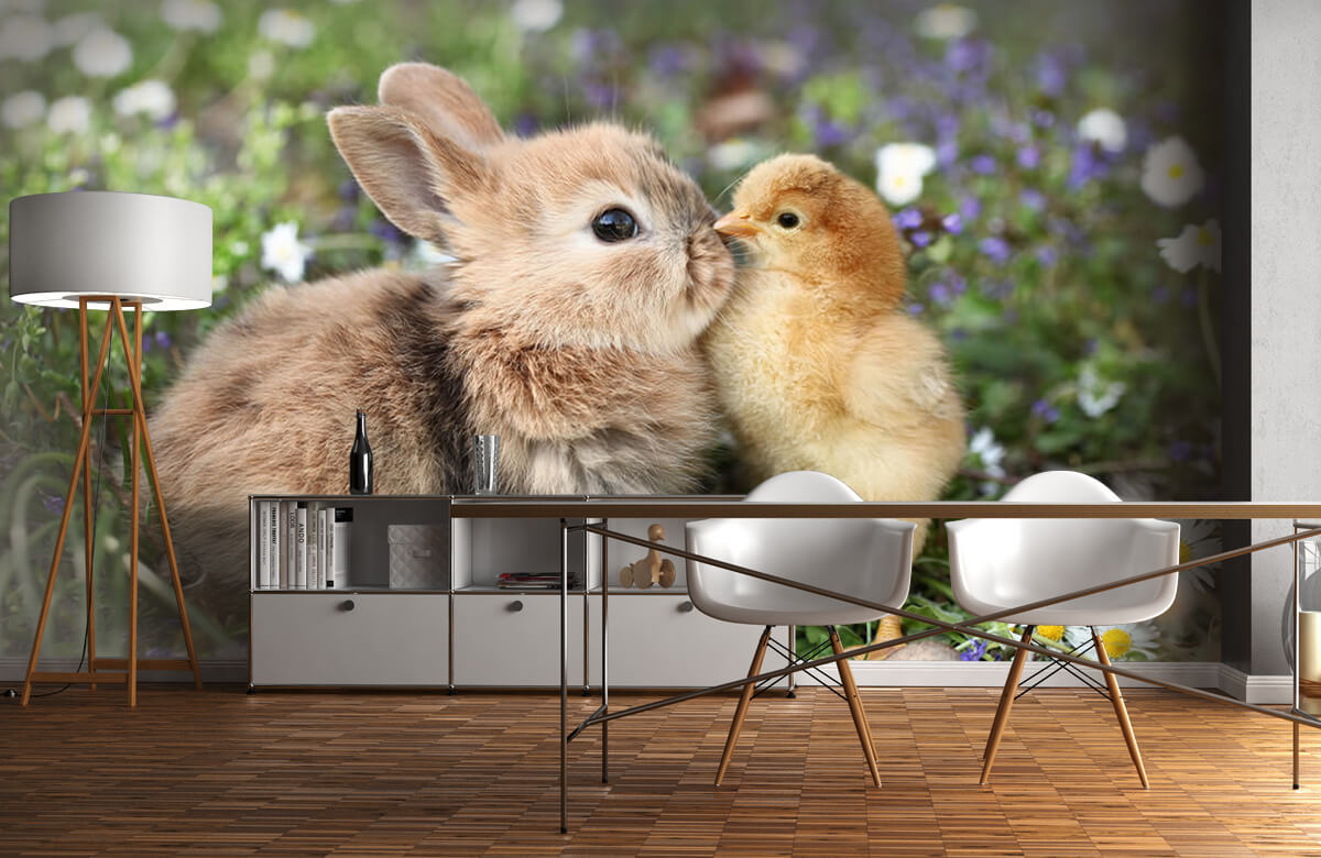 Wallpaper Rabbit and chick 10
