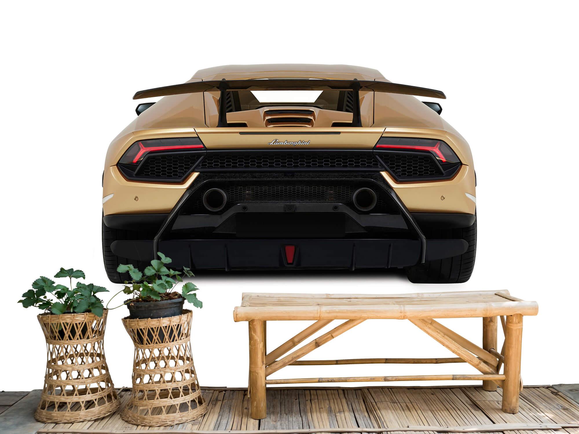 Wallpaper Lamborghini Huracán - Rear view, white 4