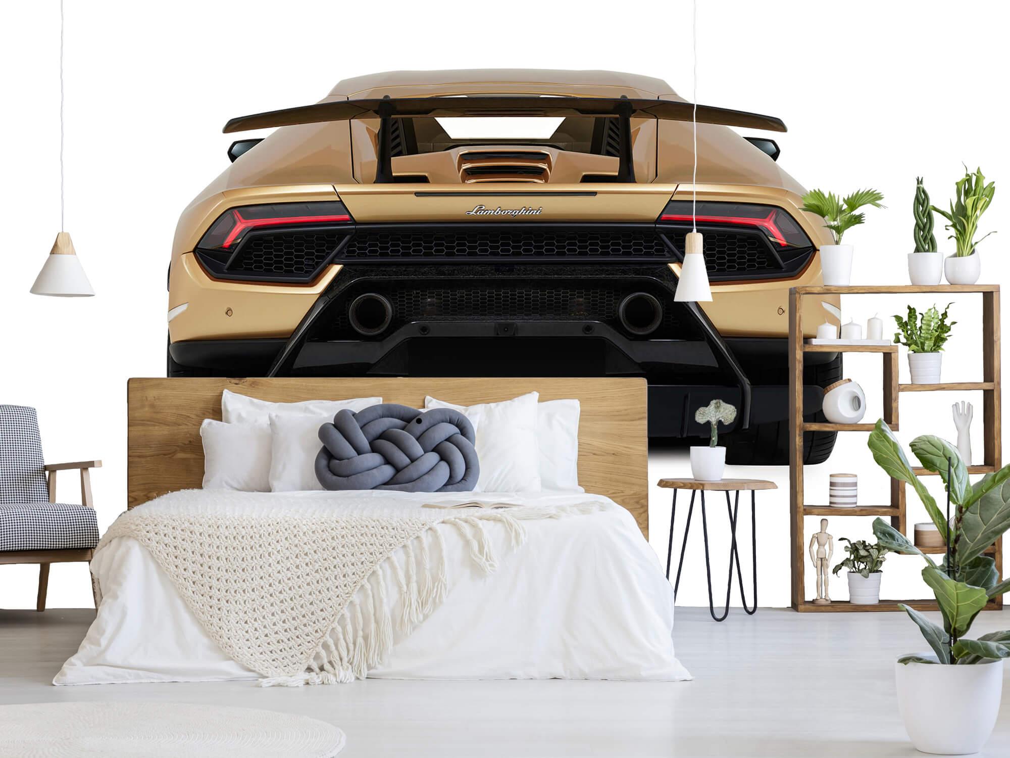 Wallpaper Lamborghini Huracán - Rear view, white 6