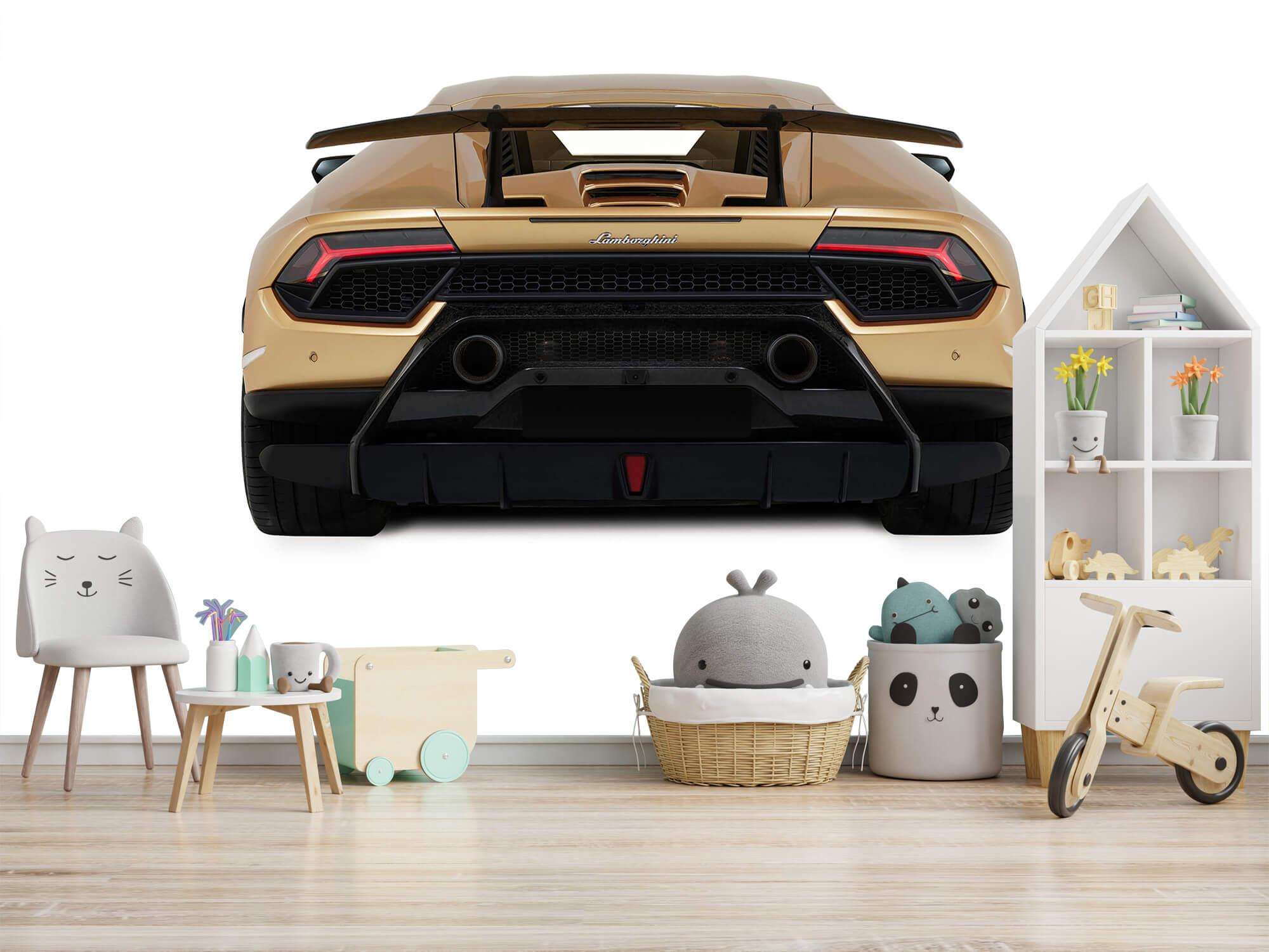 Wallpaper Lamborghini Huracán - Rear view, white 8