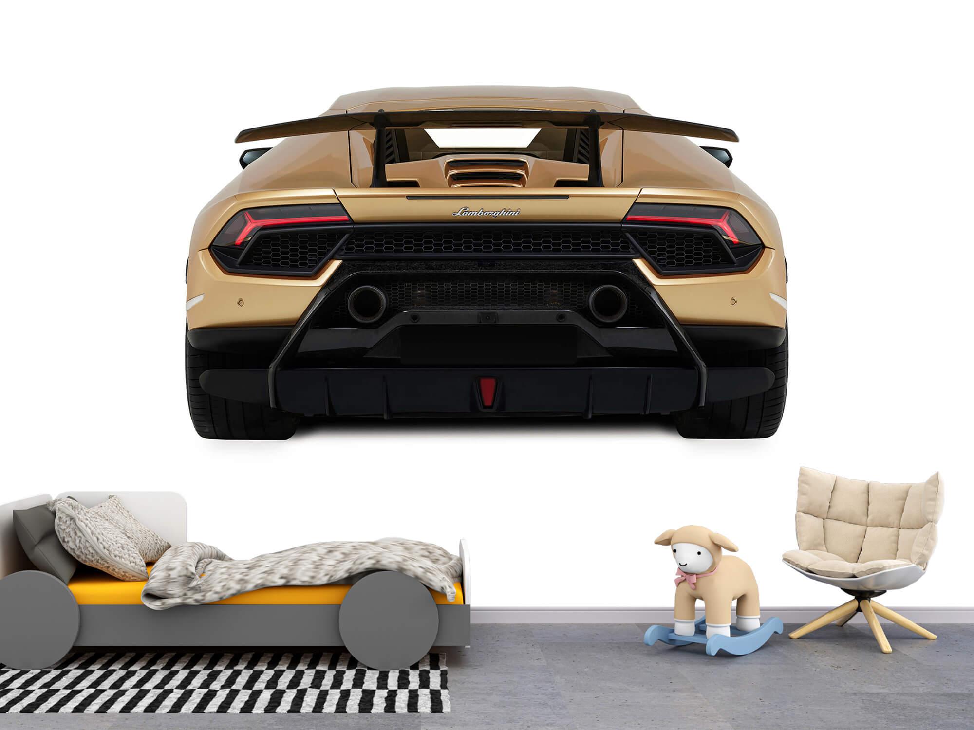 Wallpaper Lamborghini Huracán - Rear view, white 1