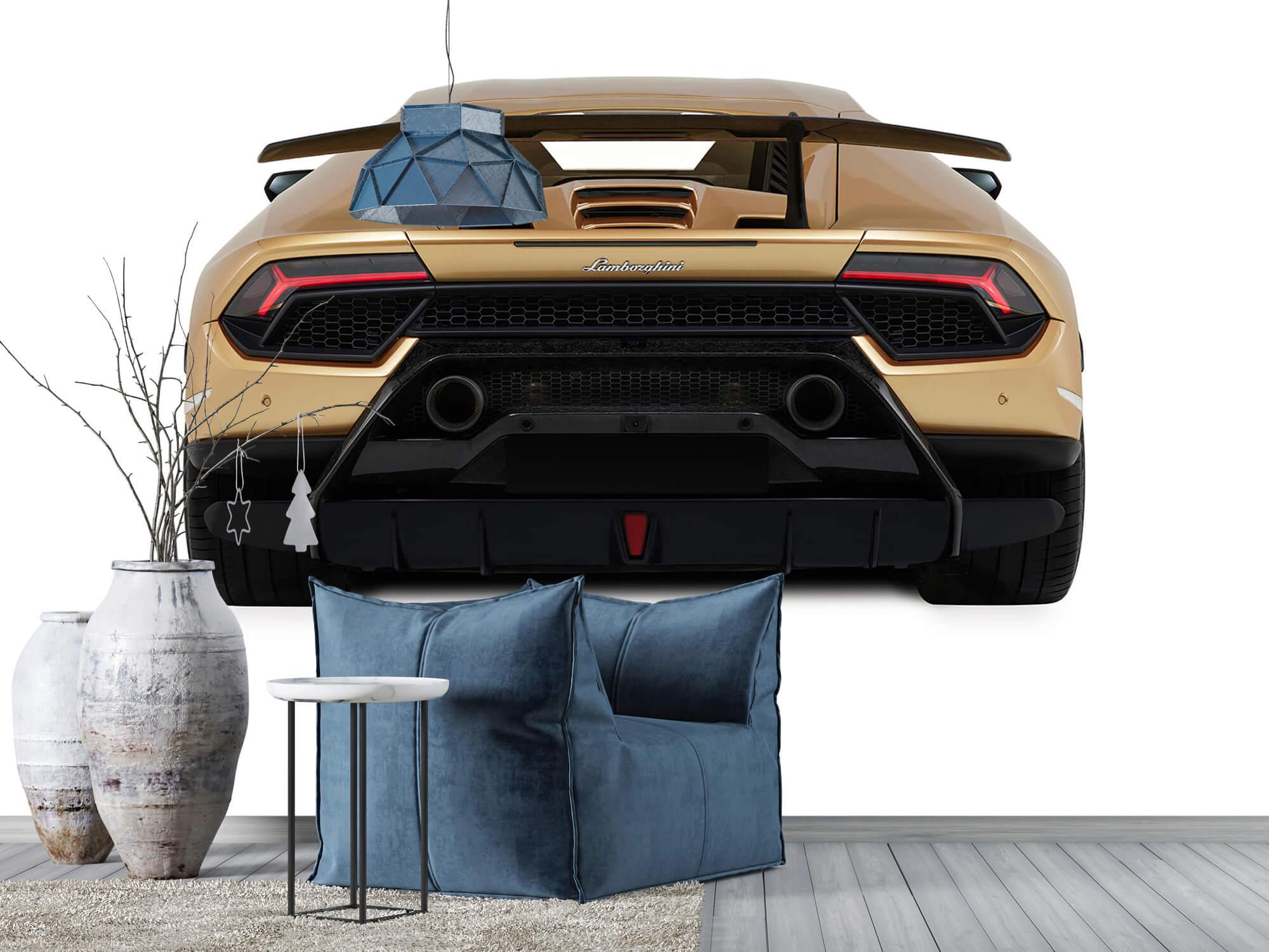 Wallpaper Lamborghini Huracán - Rear view, white 9