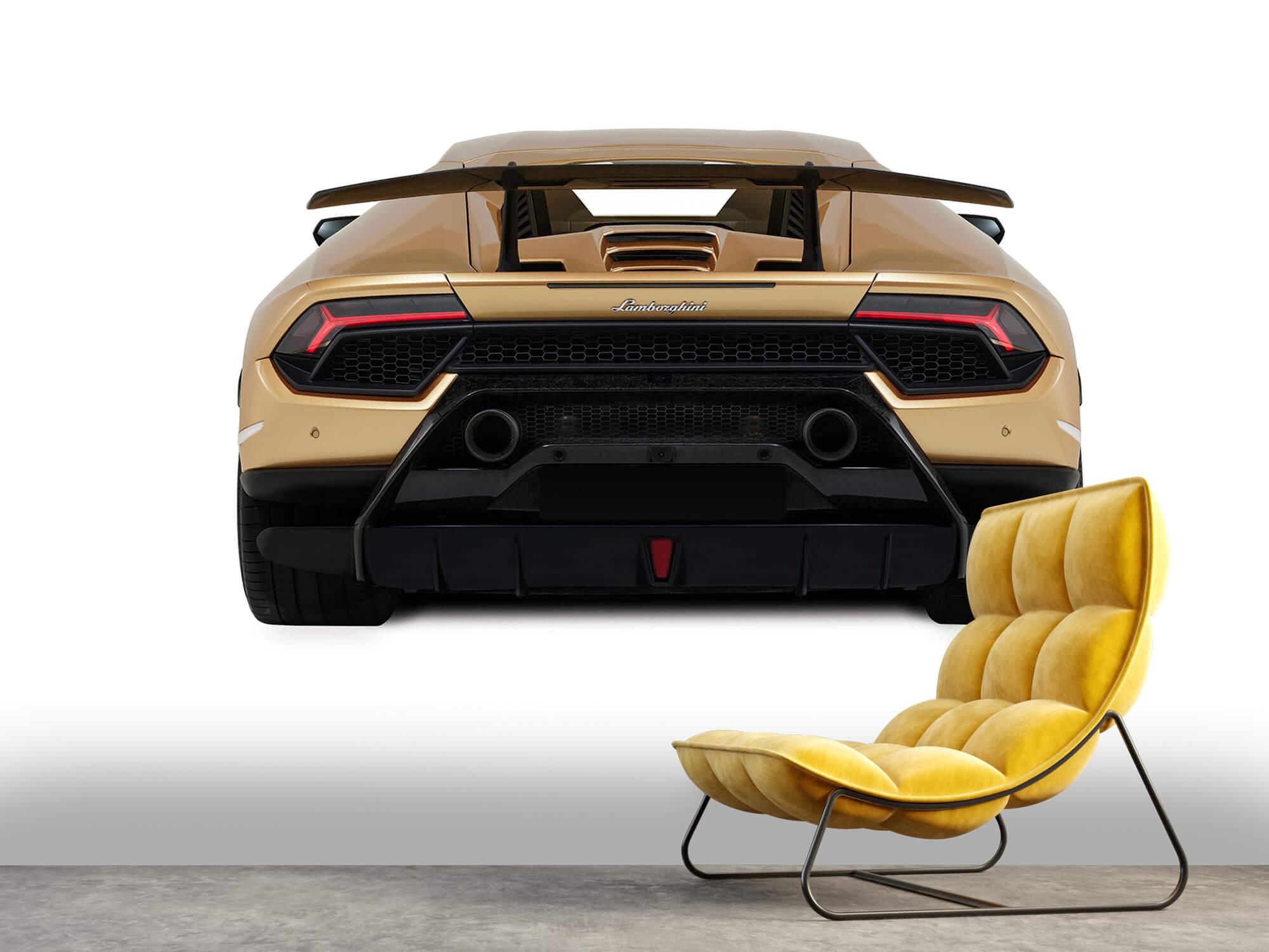 Wallpaper Lamborghini Huracán - Rear view, white 10