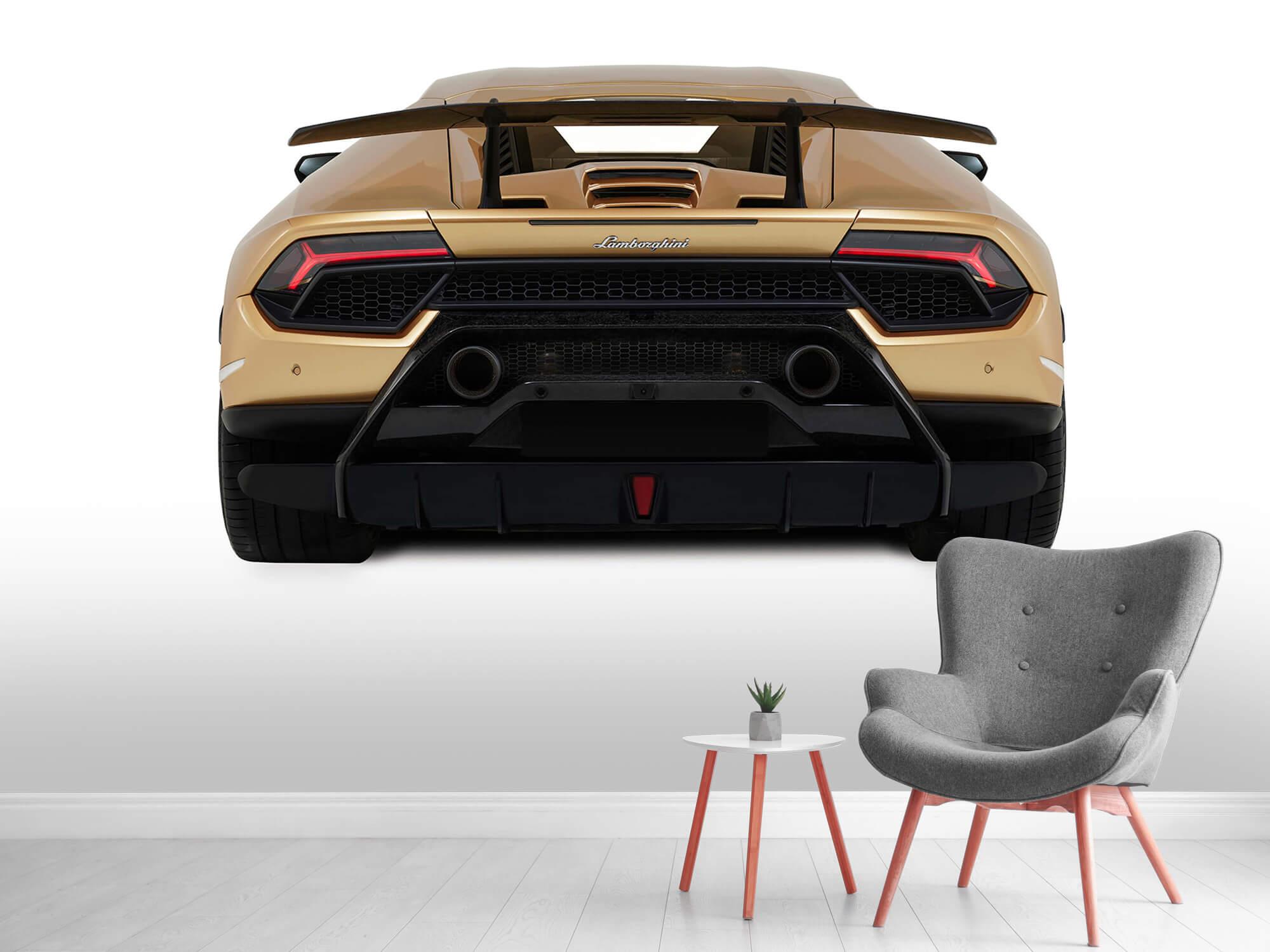Wallpaper Lamborghini Huracán - Rear view, white 5