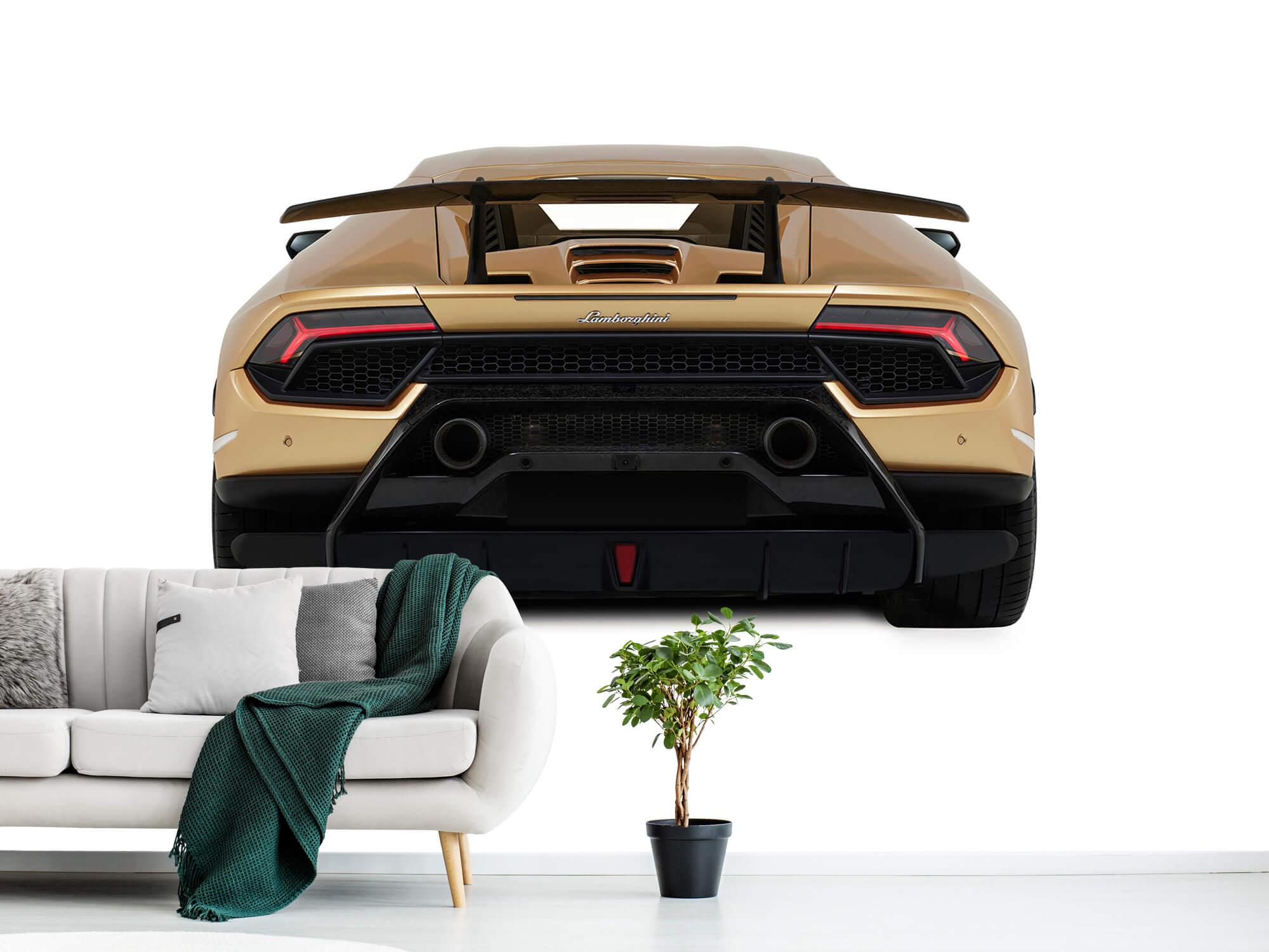 Wallpaper Lamborghini Huracán - Rear view, white 2
