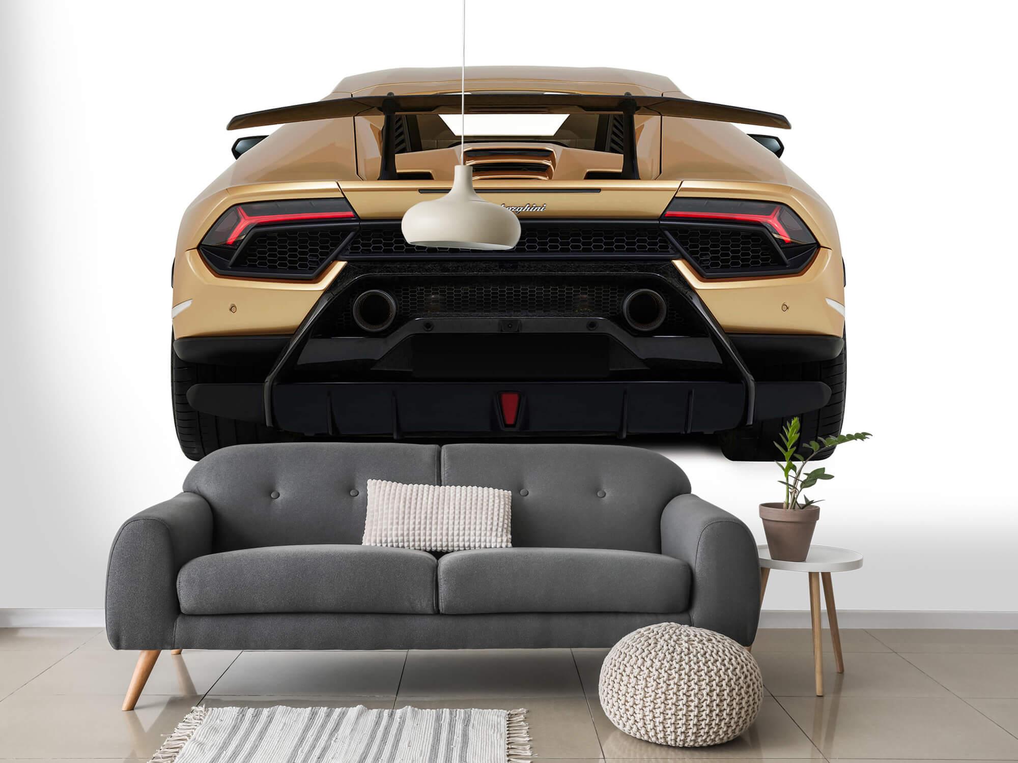 Wallpaper Lamborghini Huracán - Rear view, white 3