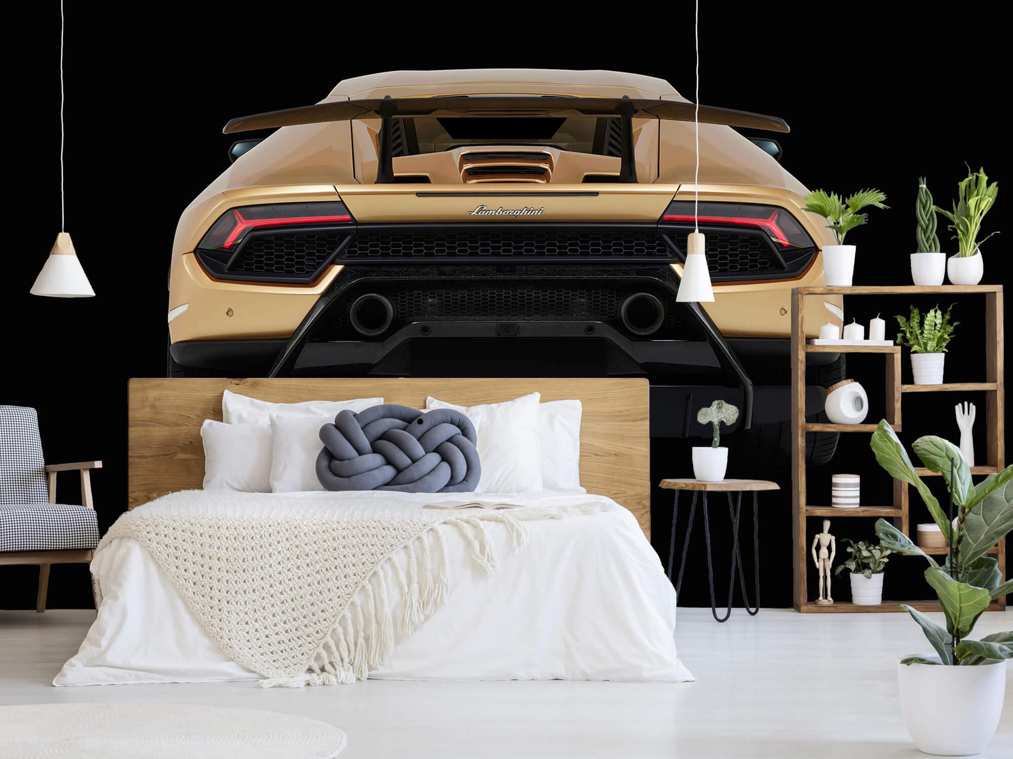 Wallpaper Lamborghini Huracán - Rear view, black 1