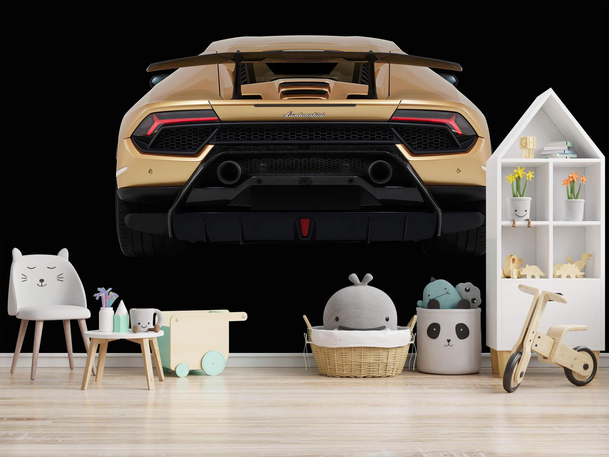 Wallpaper Lamborghini Huracán - Rear view, black 5