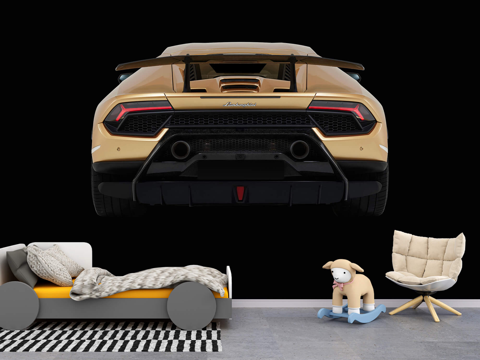Wallpaper Lamborghini Huracán - Rear view, black 4