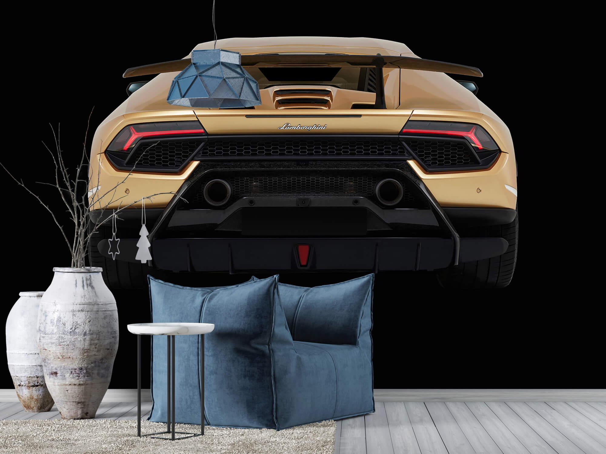 Wallpaper Lamborghini Huracán - Rear view, black 8