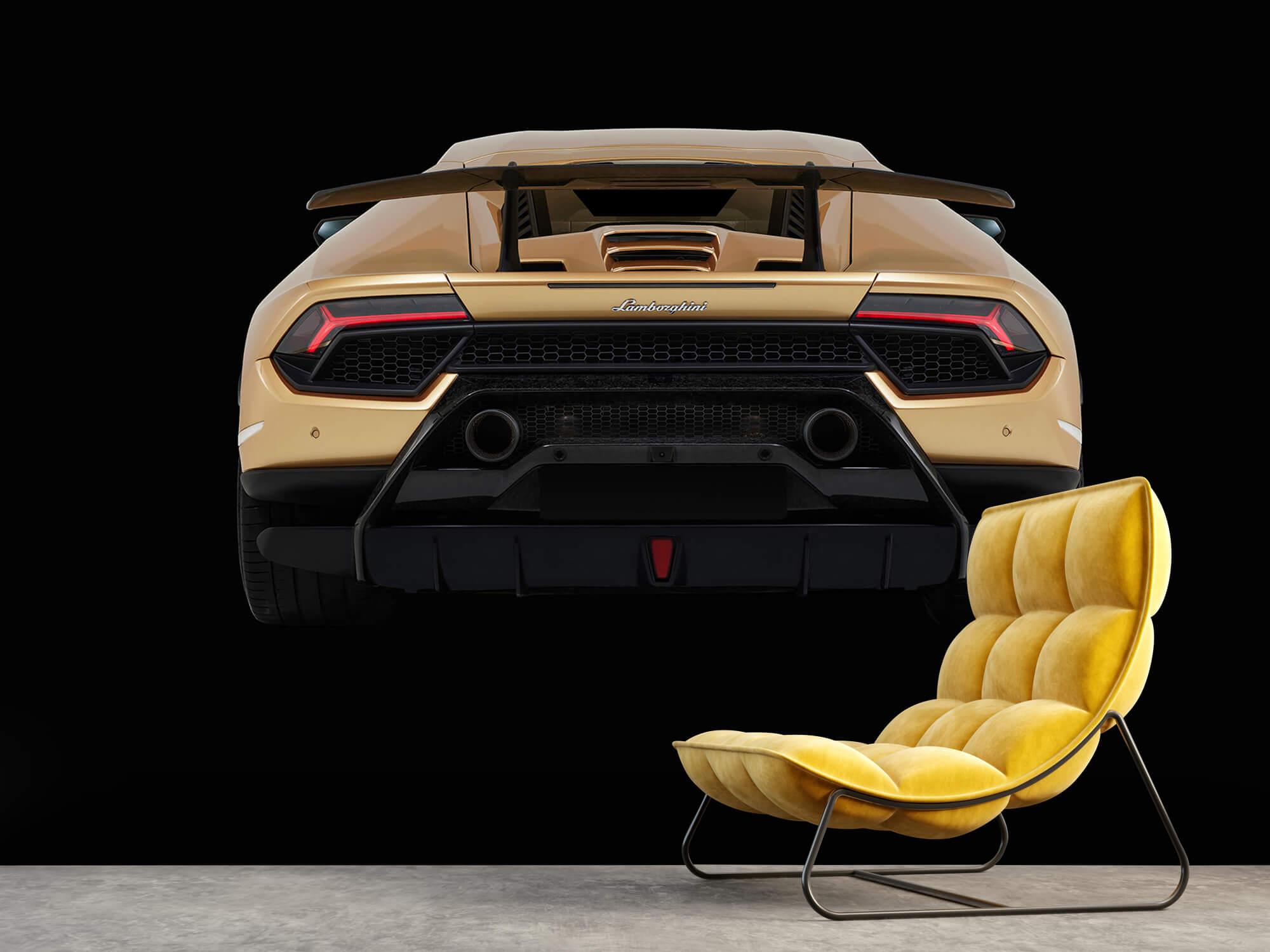 Wallpaper Lamborghini Huracán - Rear view, black 10