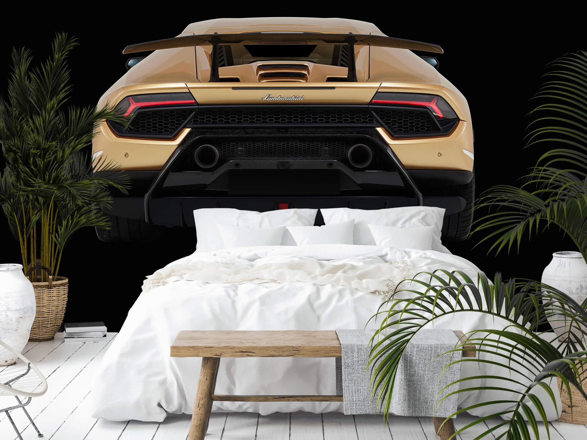 Wallpaper Lamborghini Huracán - Rear view, black 9