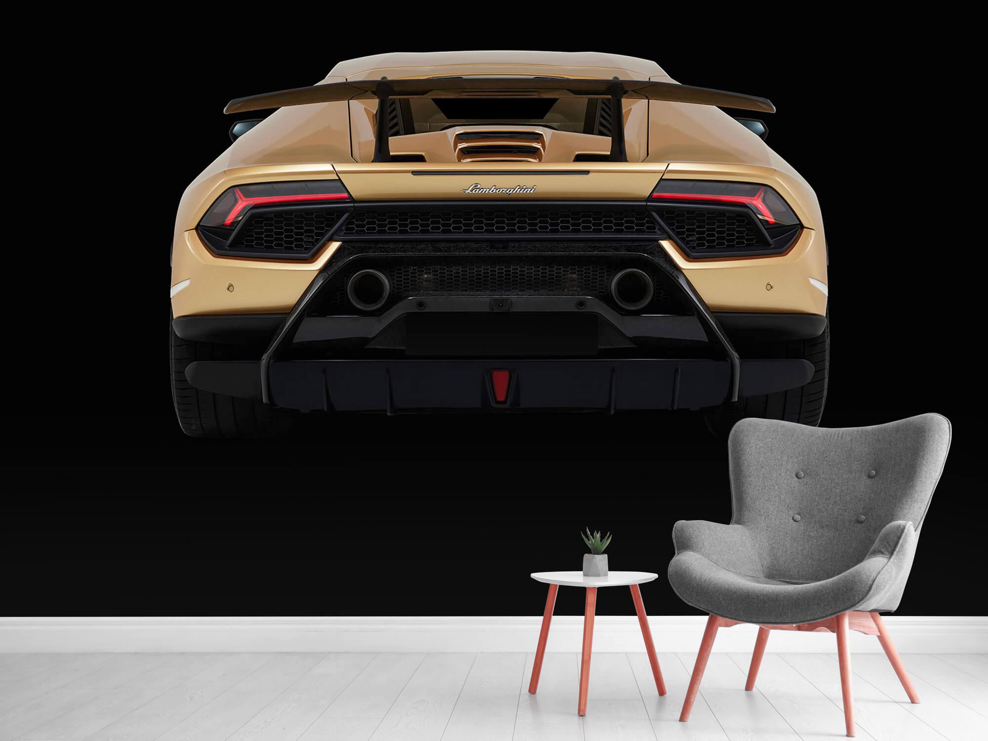 Wallpaper Lamborghini Huracán - Rear view, black 11