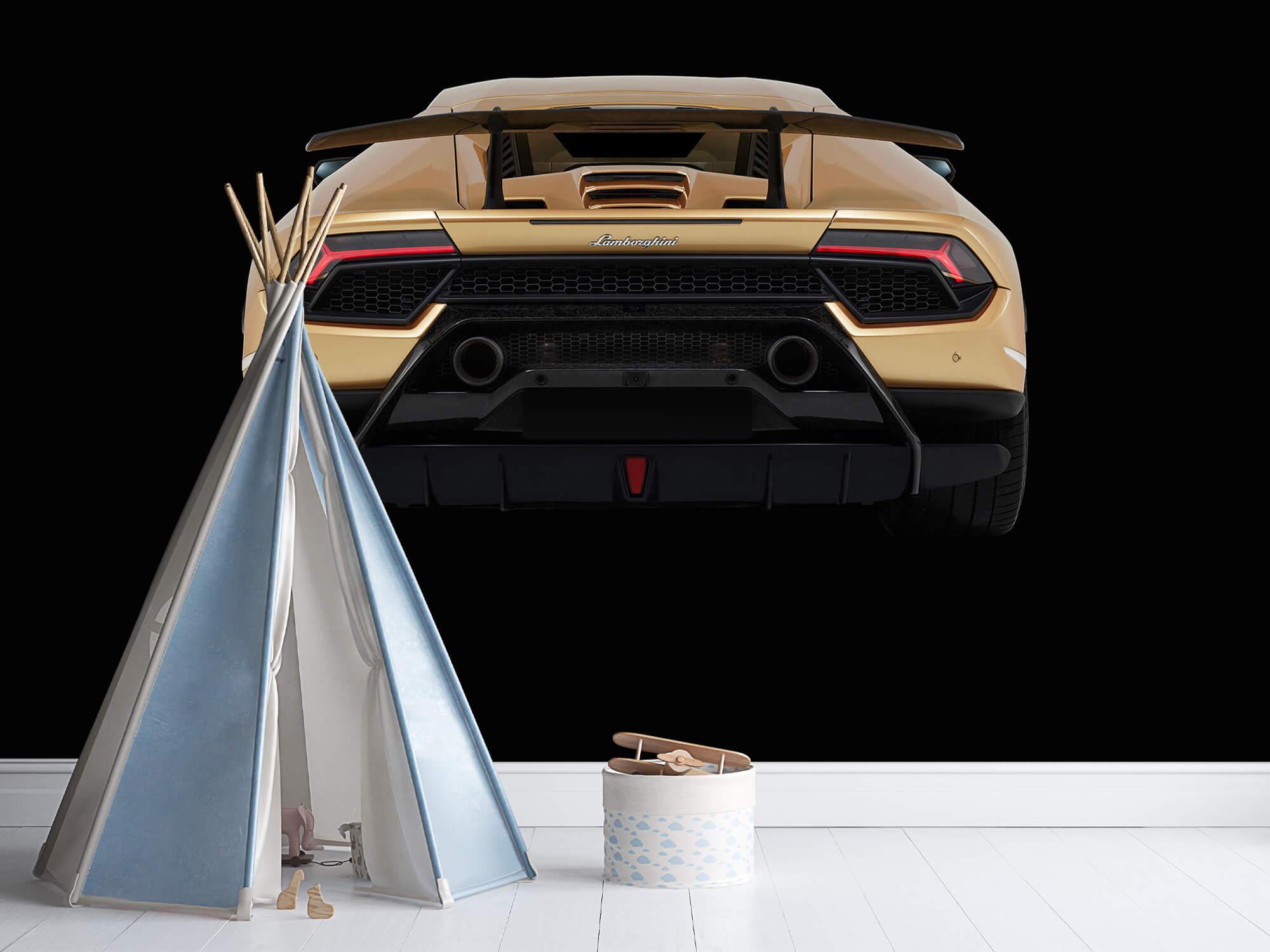 Wallpaper Lamborghini Huracán - Rear view, black 7