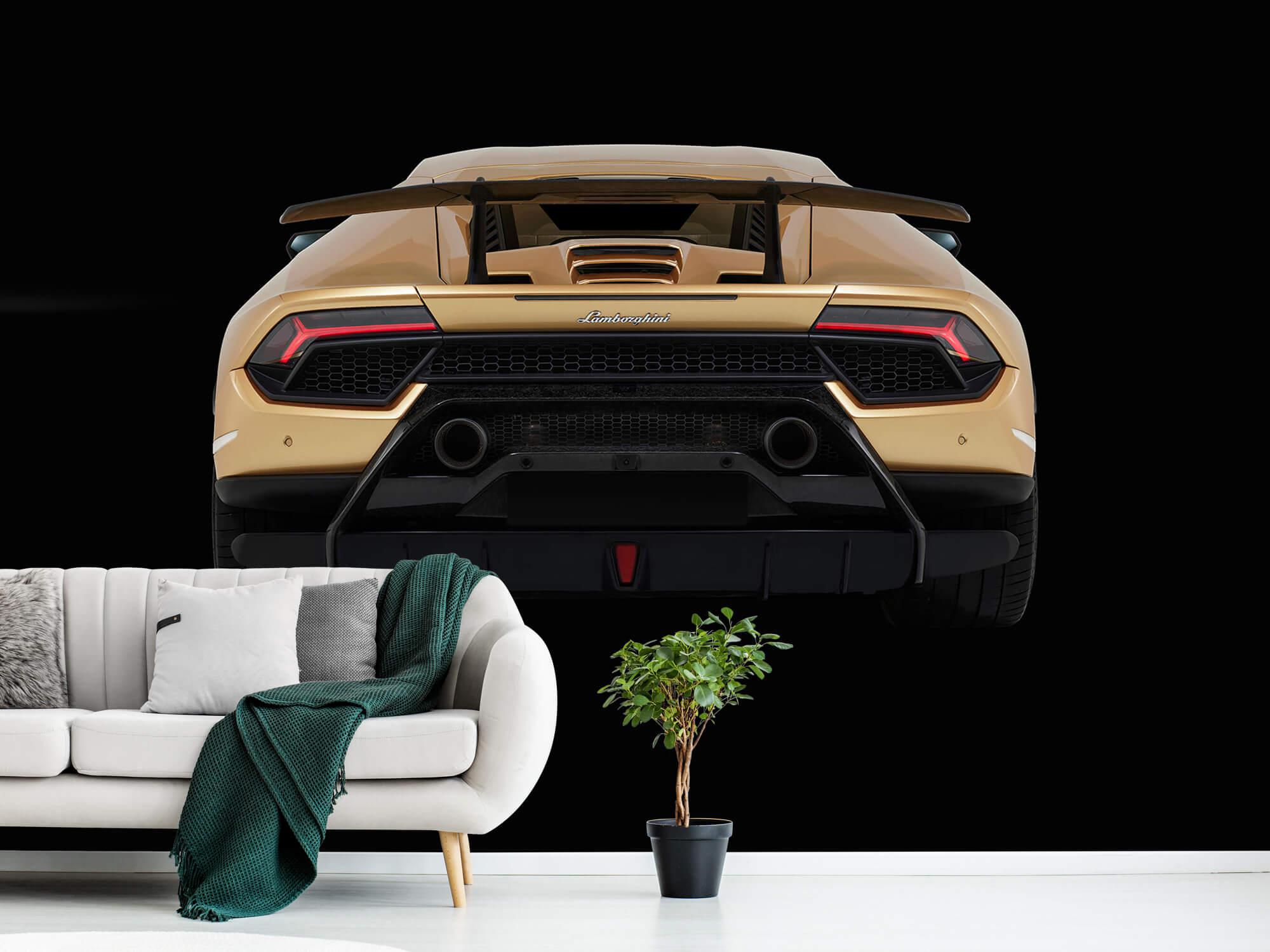 Wallpaper Lamborghini Huracán - Rear view, black 12