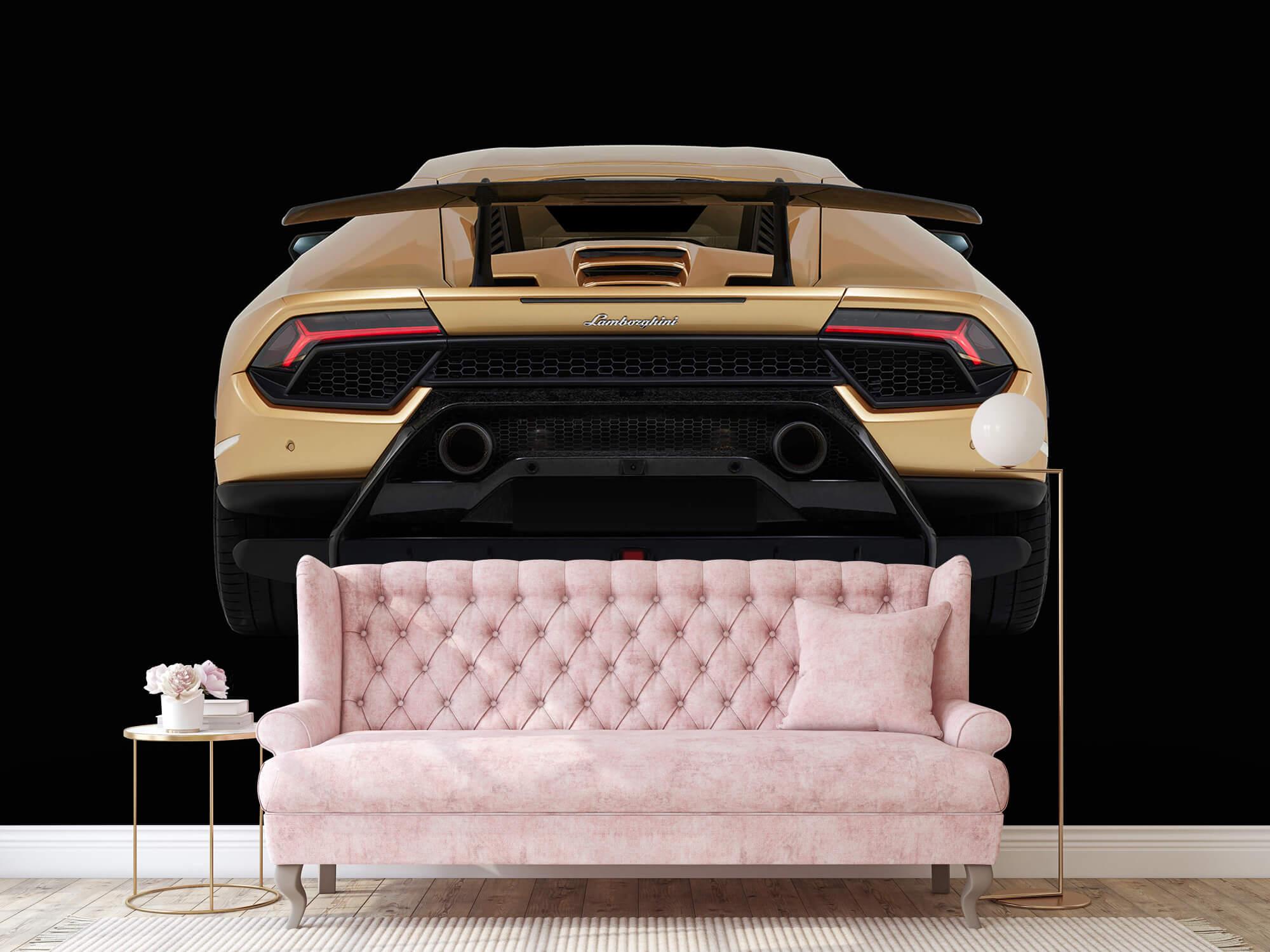 Wallpaper Lamborghini Huracán - Rear view, black 13