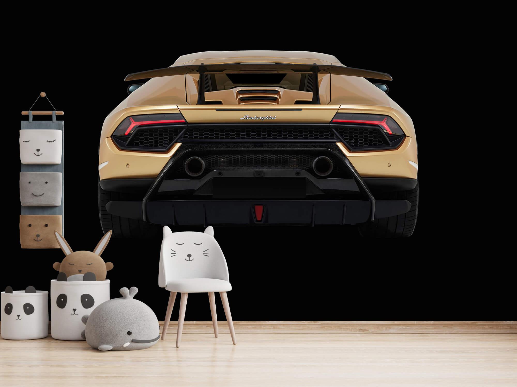Wallpaper Lamborghini Huracán - Rear view, black 14