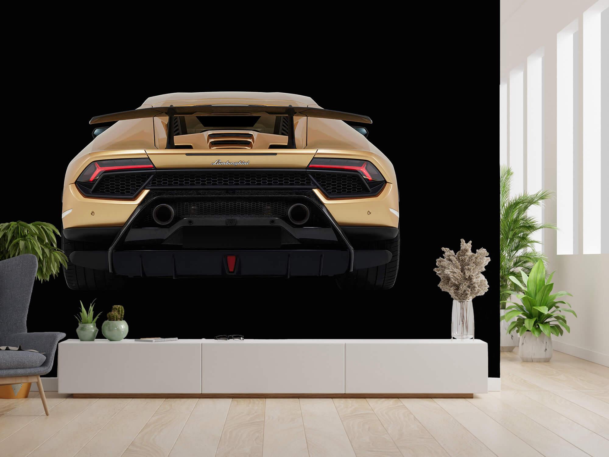 Wallpaper Lamborghini Huracán - Rear view, black 2