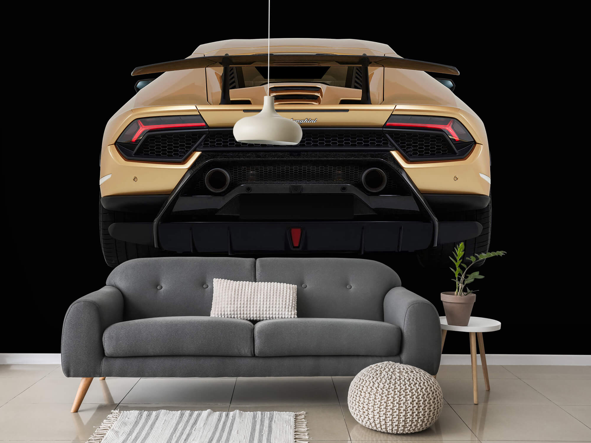 Wallpaper Lamborghini Huracán - Rear view, black 15