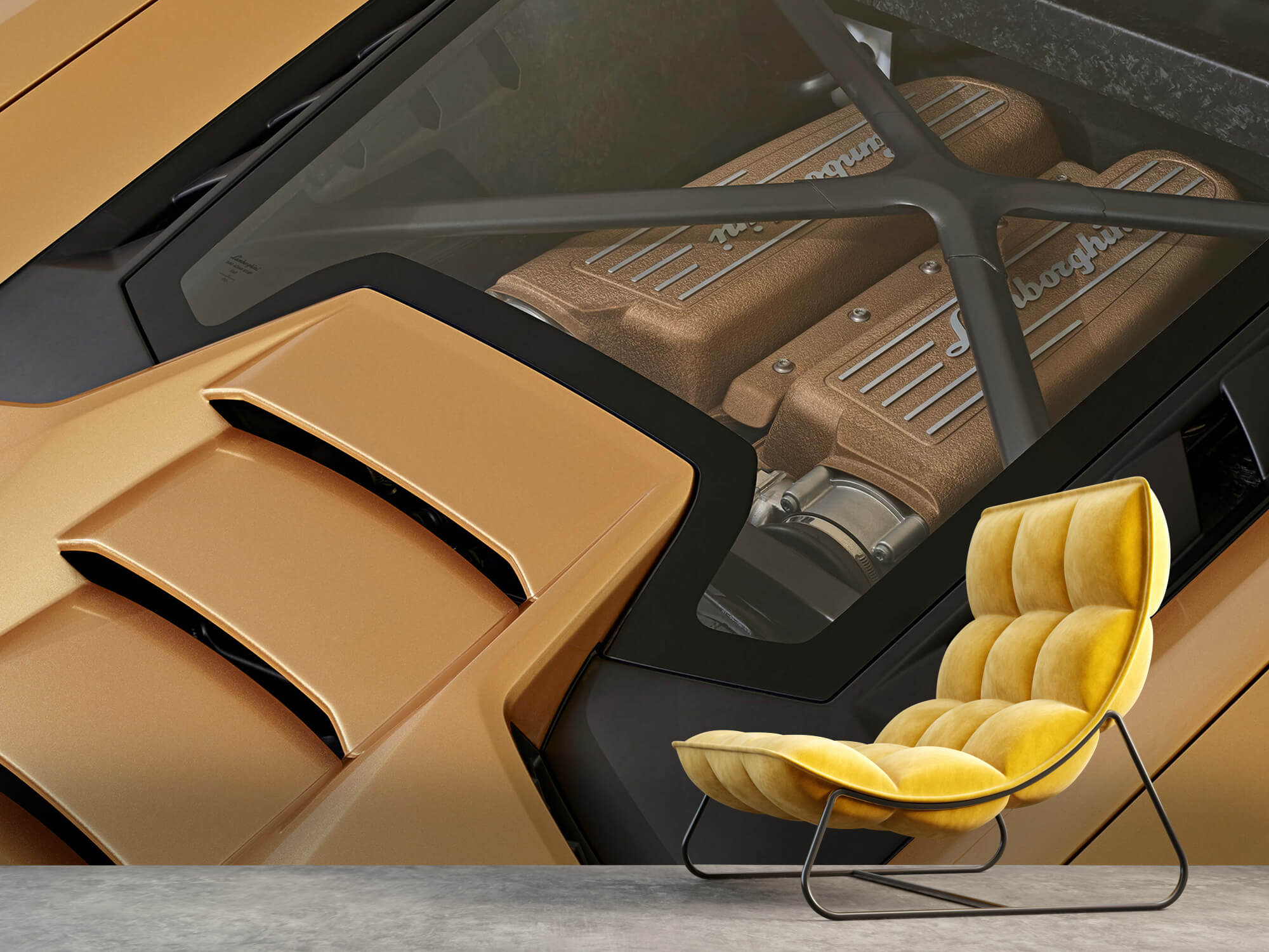 Wallpaper Lamborghini Huracán - Engine 8