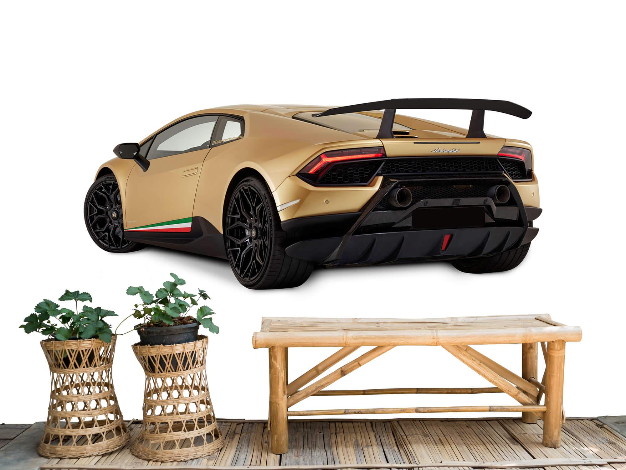 Wallpaper Lamborghini Huracán - Left Rear Side, white 6