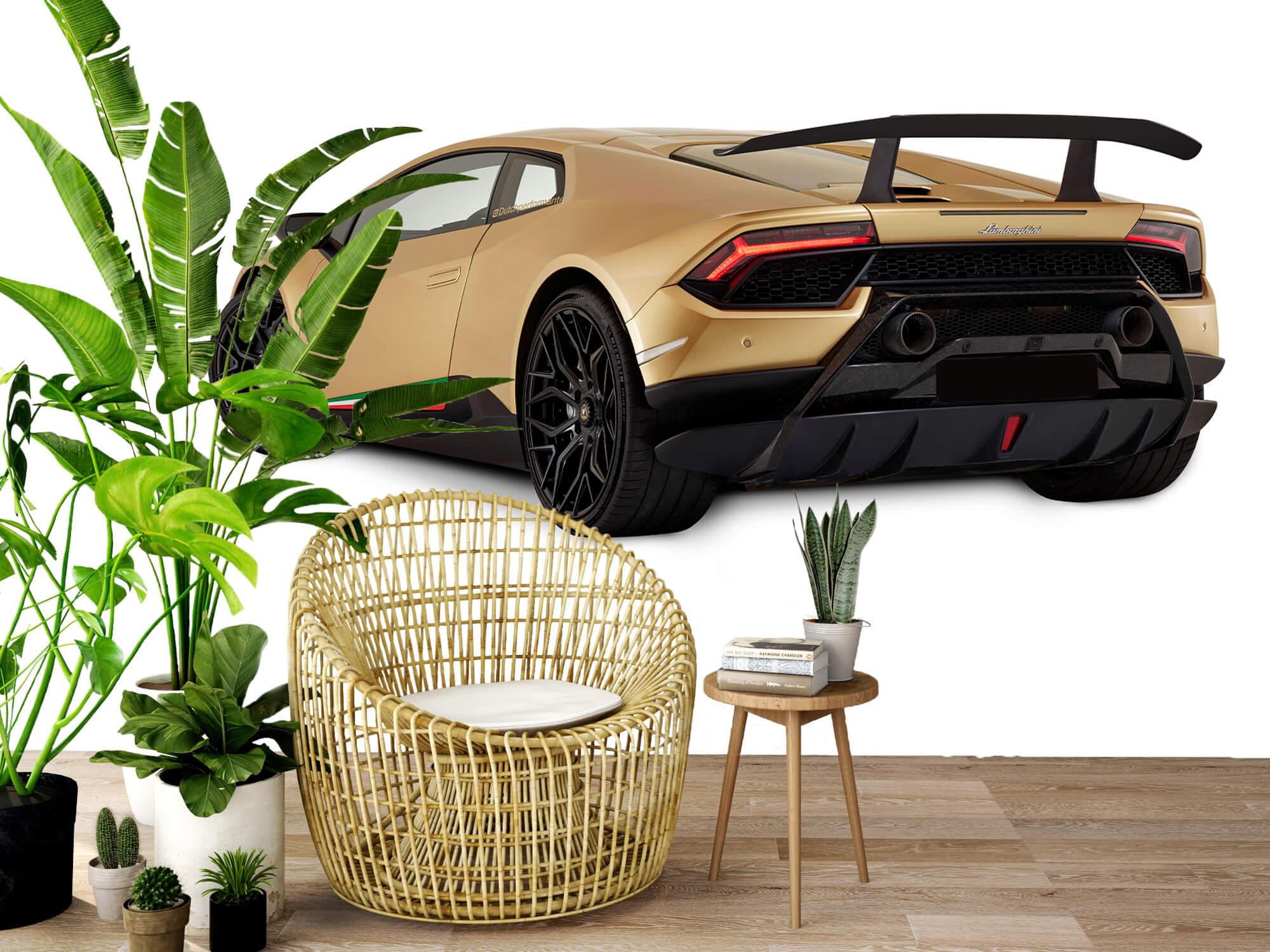 Wallpaper Lamborghini Huracán - Left Rear Side, white 9