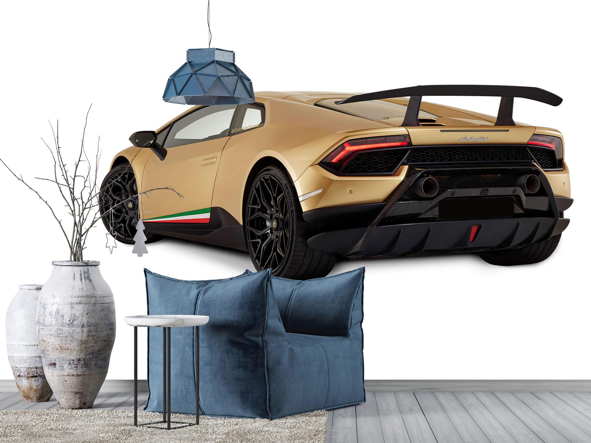 Wallpaper Lamborghini Huracán - Left Rear Side, white 5