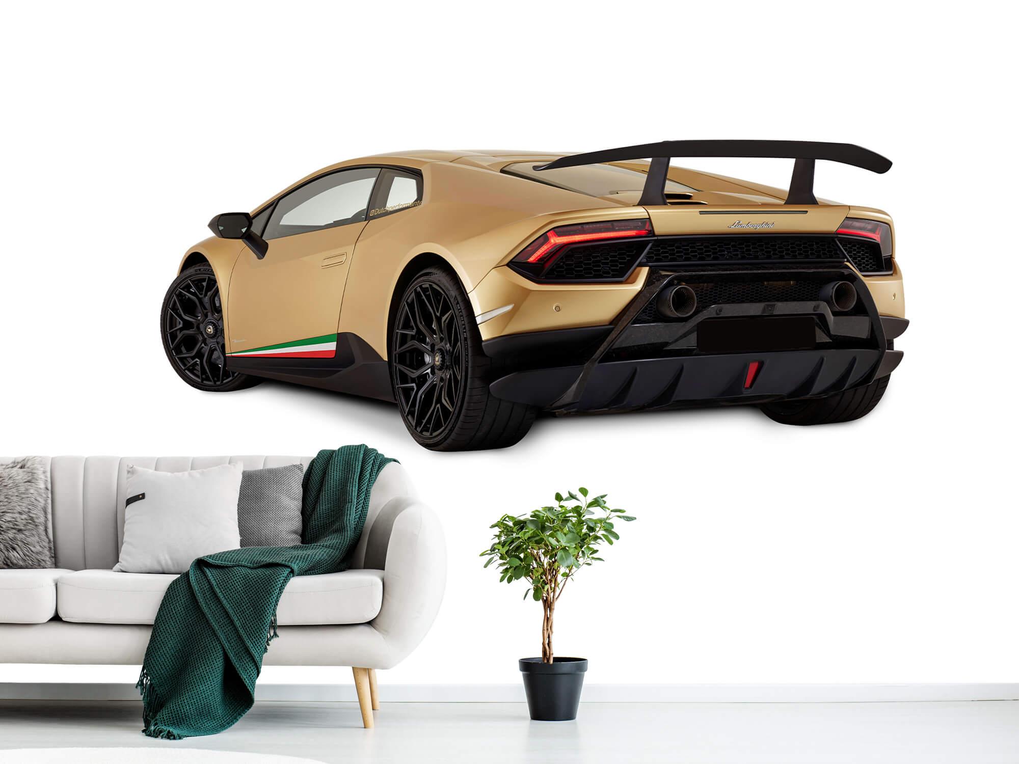 Wallpaper Lamborghini Huracán - Left Rear Side, white 1