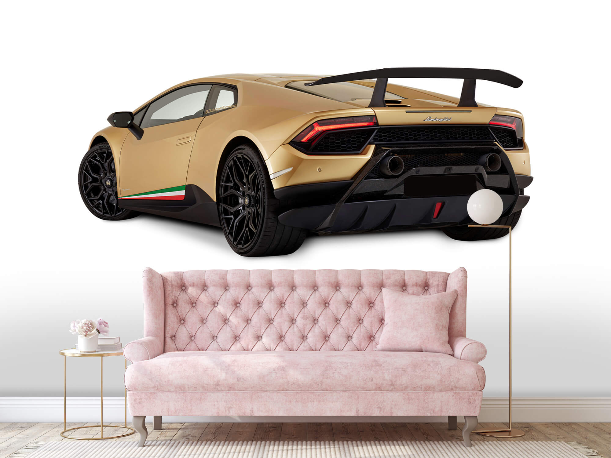 Wallpaper Lamborghini Huracán - Left Rear Side, white 13