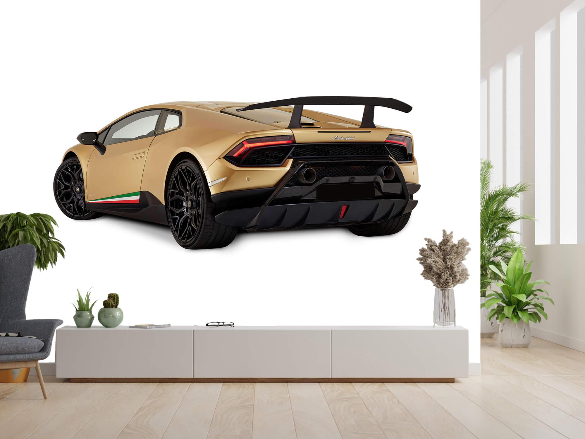Wallpaper Lamborghini Huracán - Left Rear Side, white 3