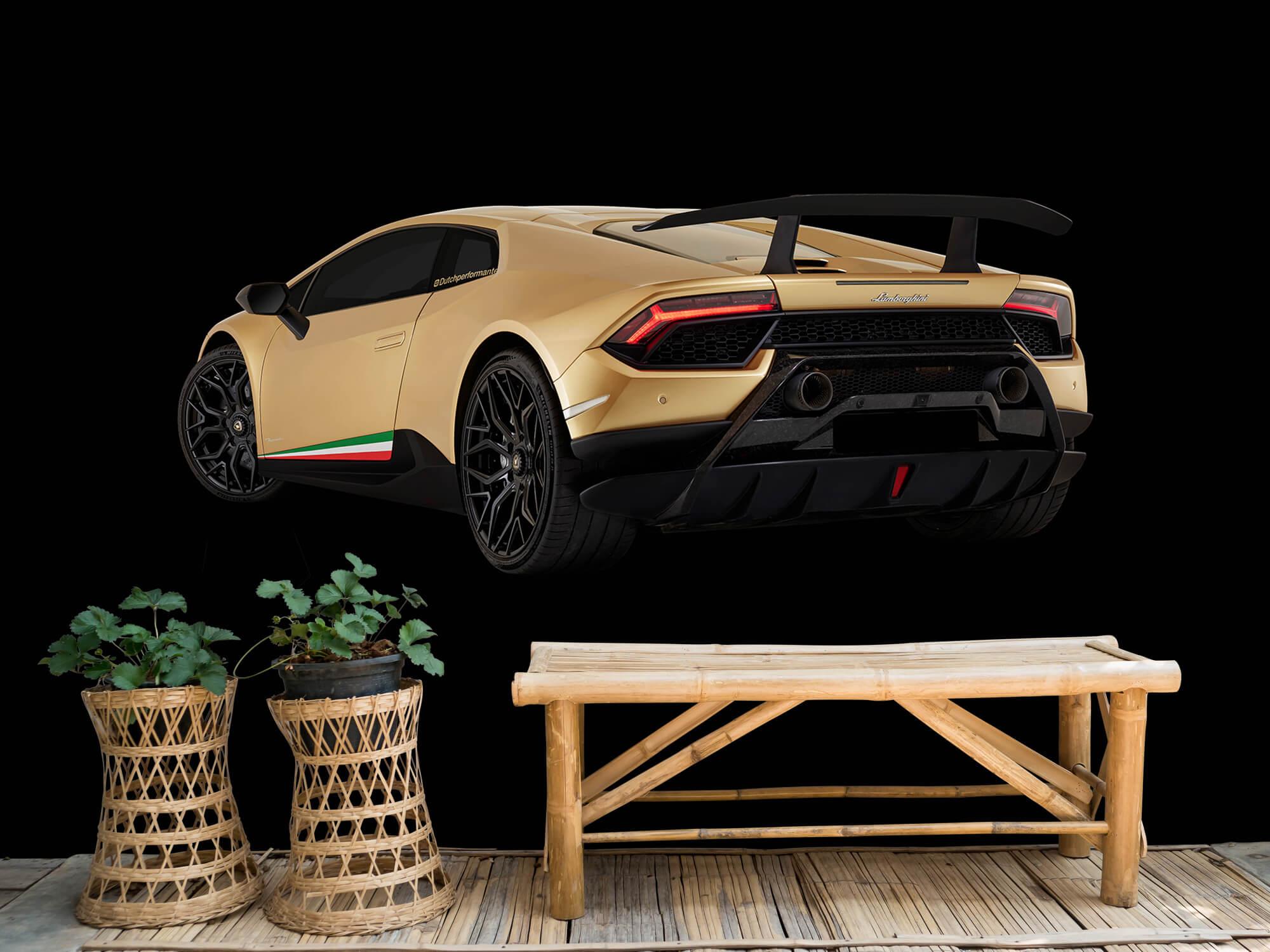 Wallpaper Lamborghini Huracán - Left Rear end, black 6