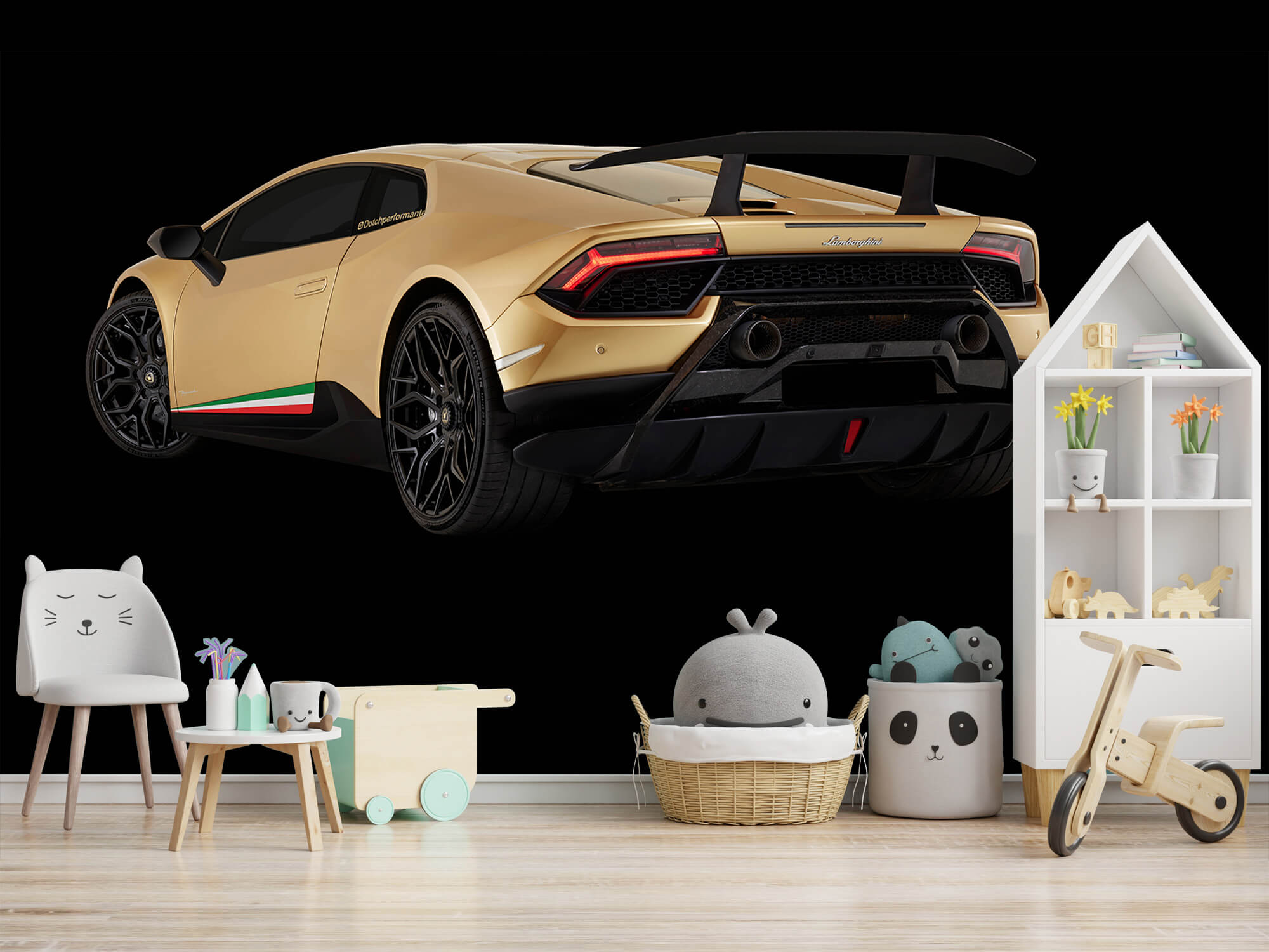 Wallpaper Lamborghini Huracán - Left Rear end, black 7