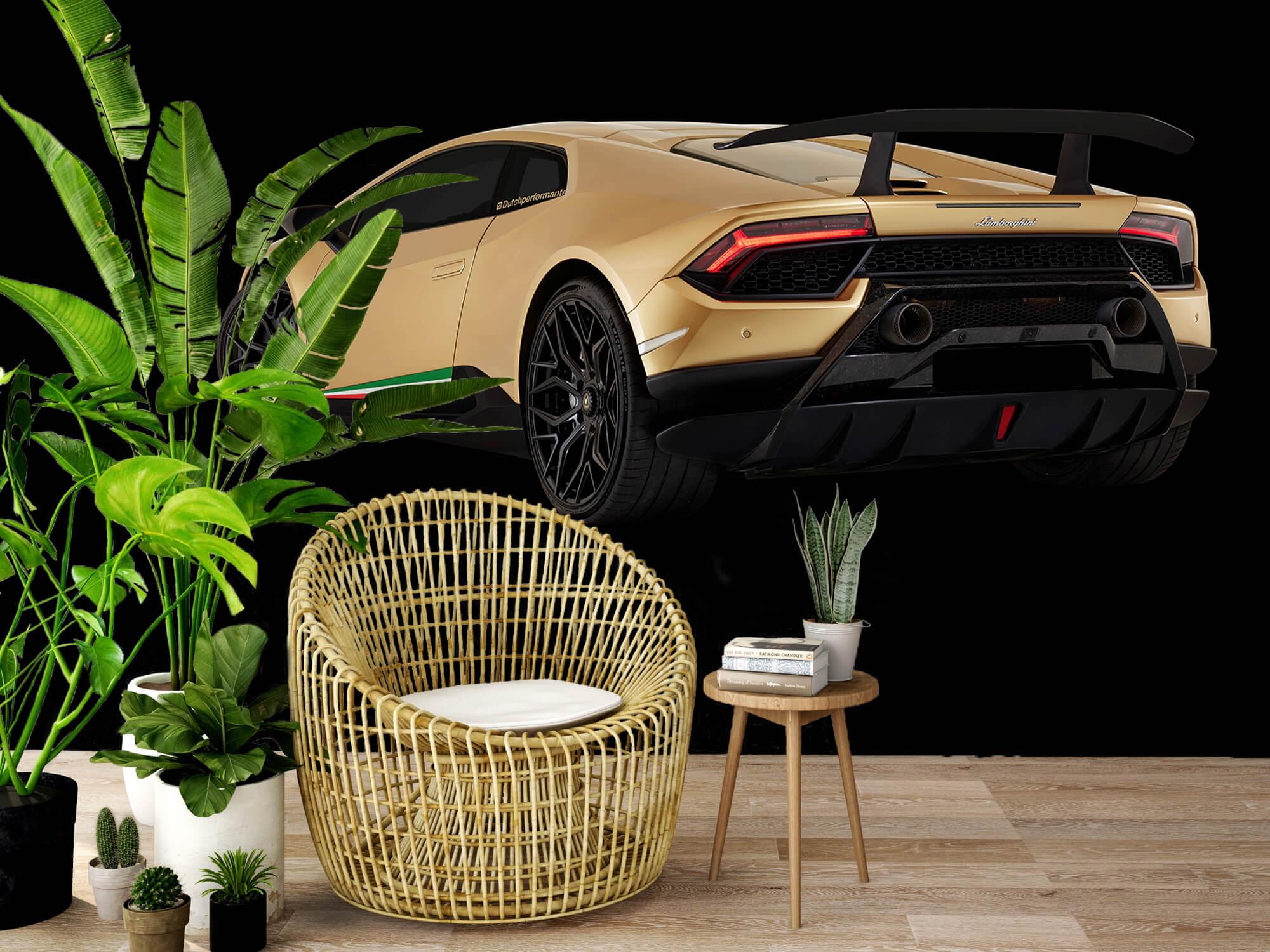 Wallpaper Lamborghini Huracán - Left Rear end, black 8