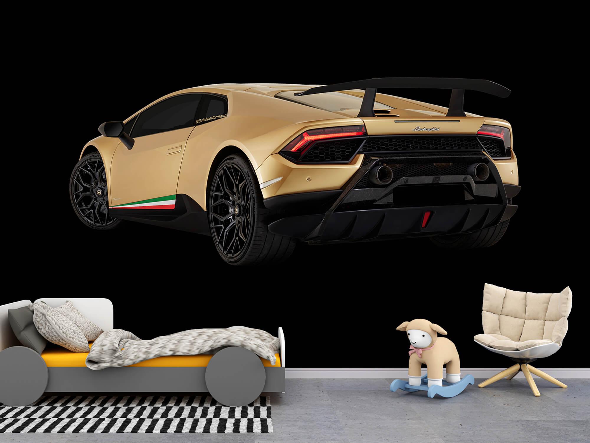 Wallpaper Lamborghini Huracán - Left Rear end, black 2