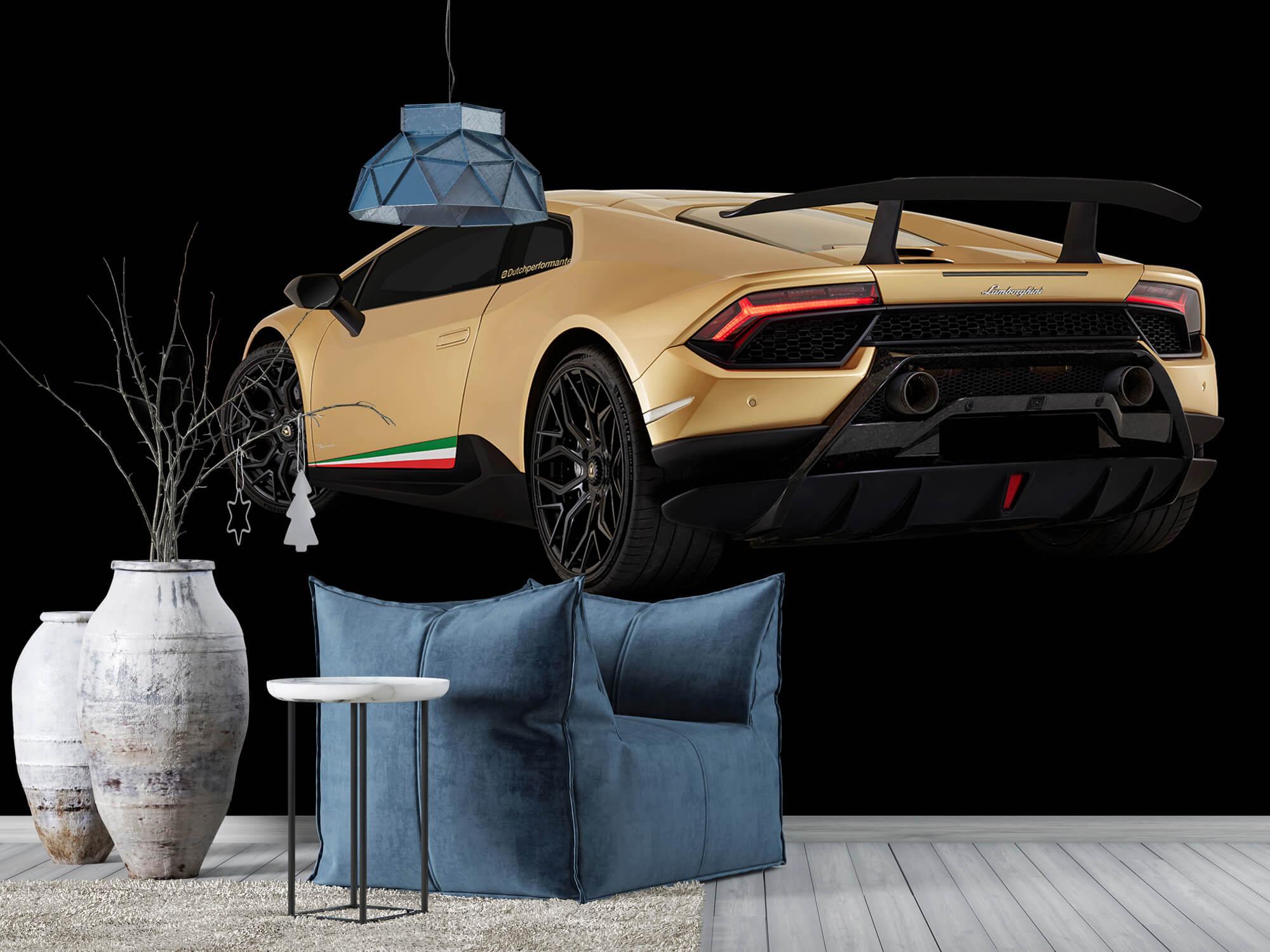 Wallpaper Lamborghini Huracán - Left Rear end, black 10