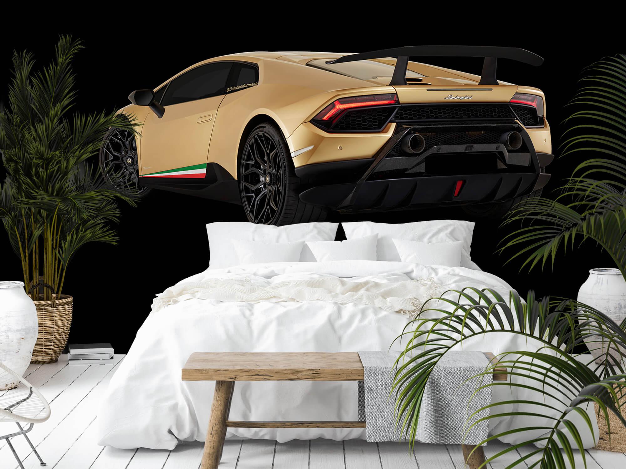 Wallpaper Lamborghini Huracán - Left Rear end, black 5