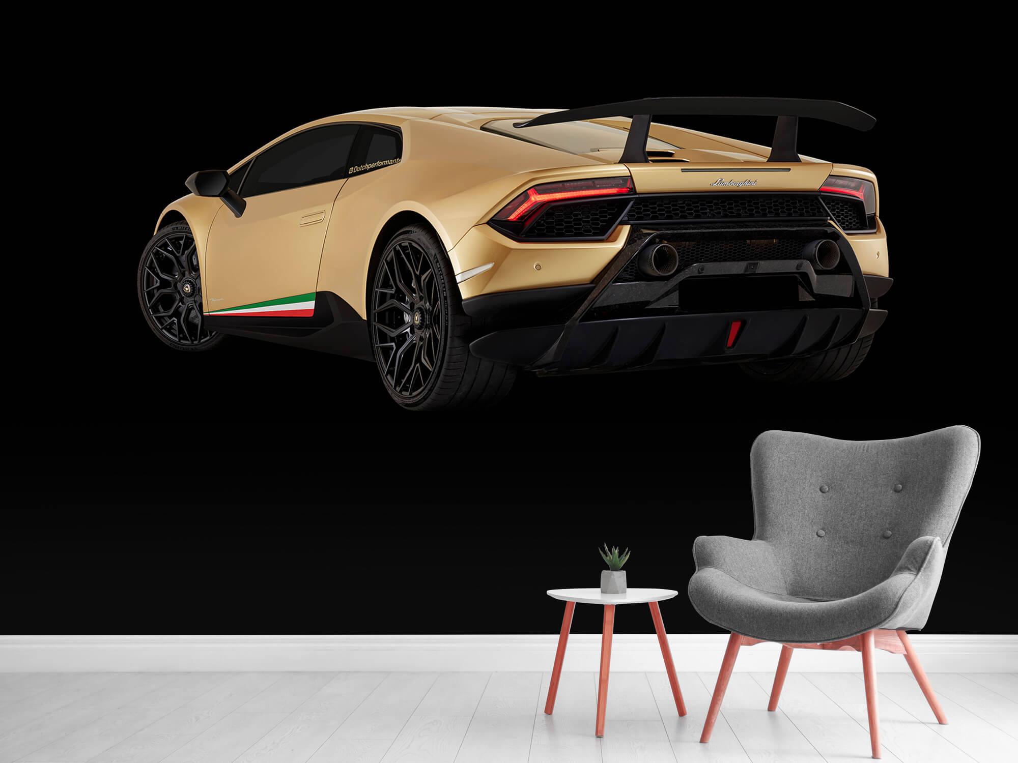 Wallpaper Lamborghini Huracán - Left Rear end, black 12