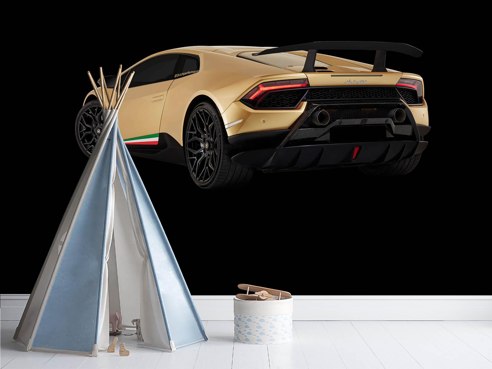 Wallpaper Lamborghini Huracán - Left Rear end, black 4