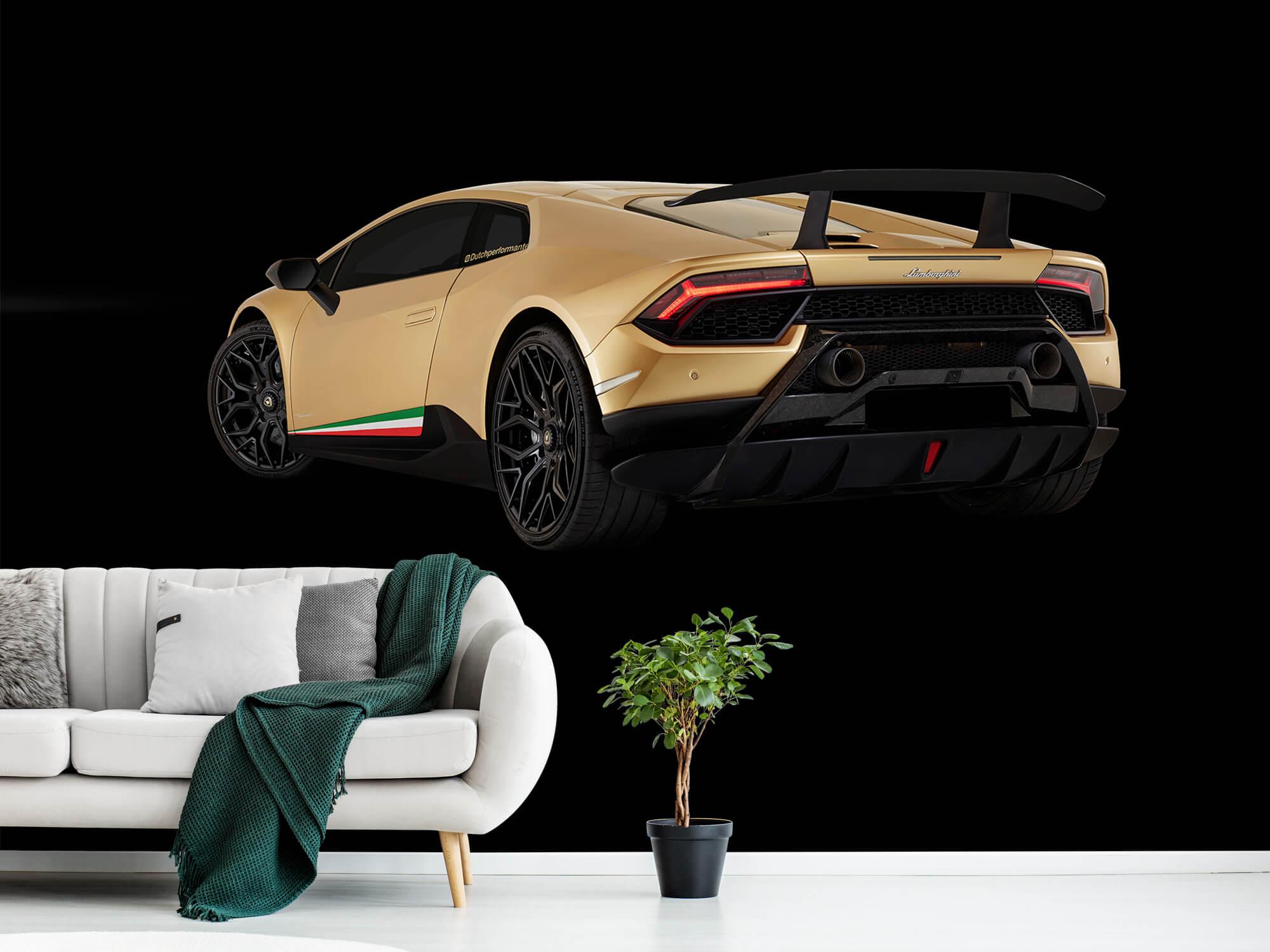 Wallpaper Lamborghini Huracán - Left Rear end, black 13