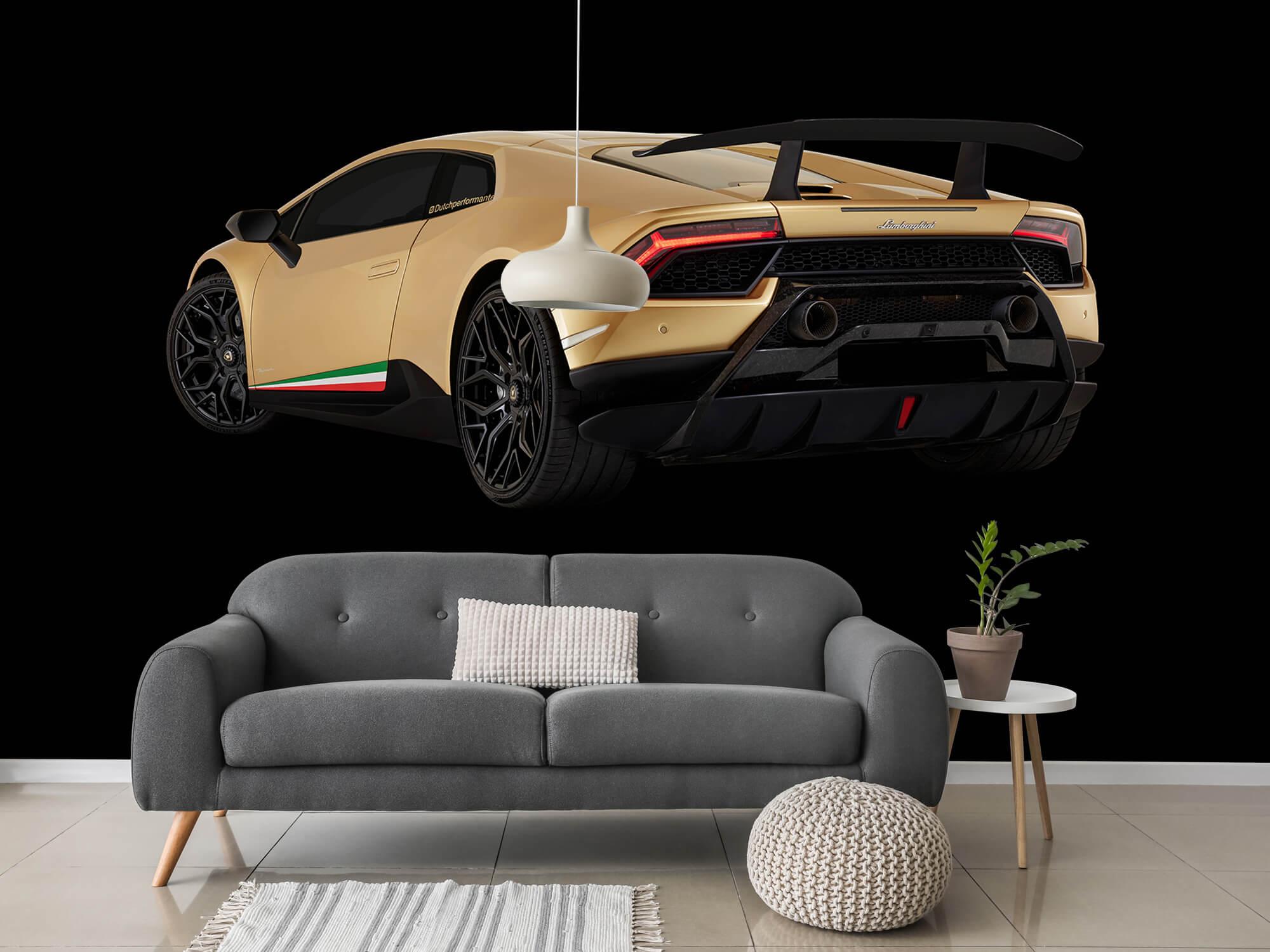 Wallpaper Lamborghini Huracán - Left Rear end, black 3