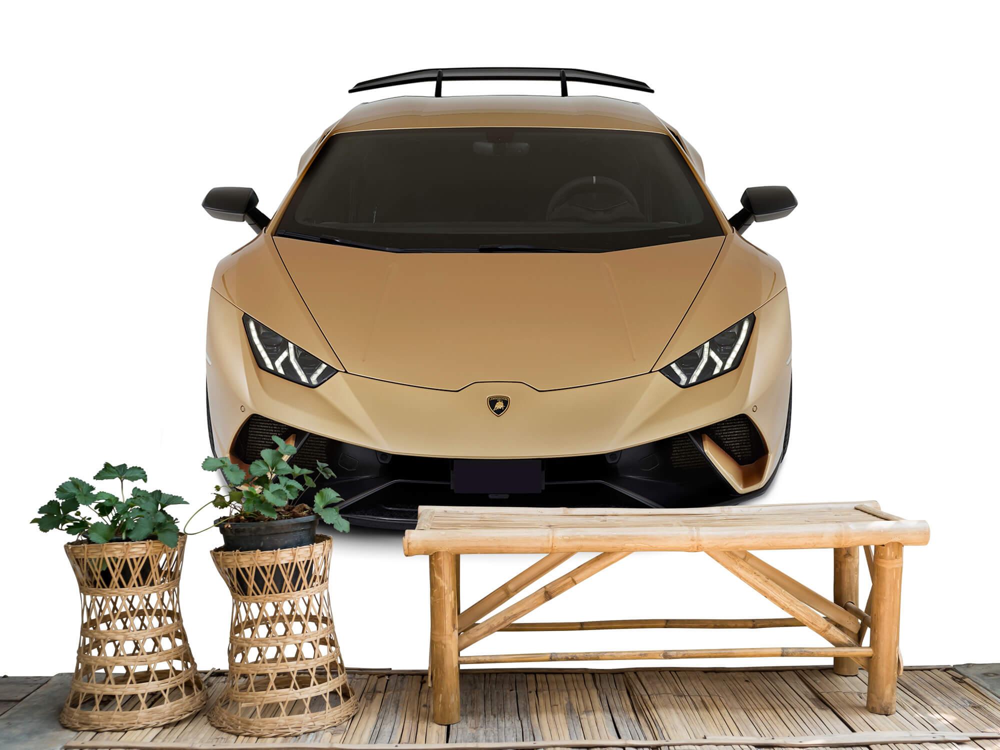 Wallpaper Lamborghini Huracán - Front from above, white 3