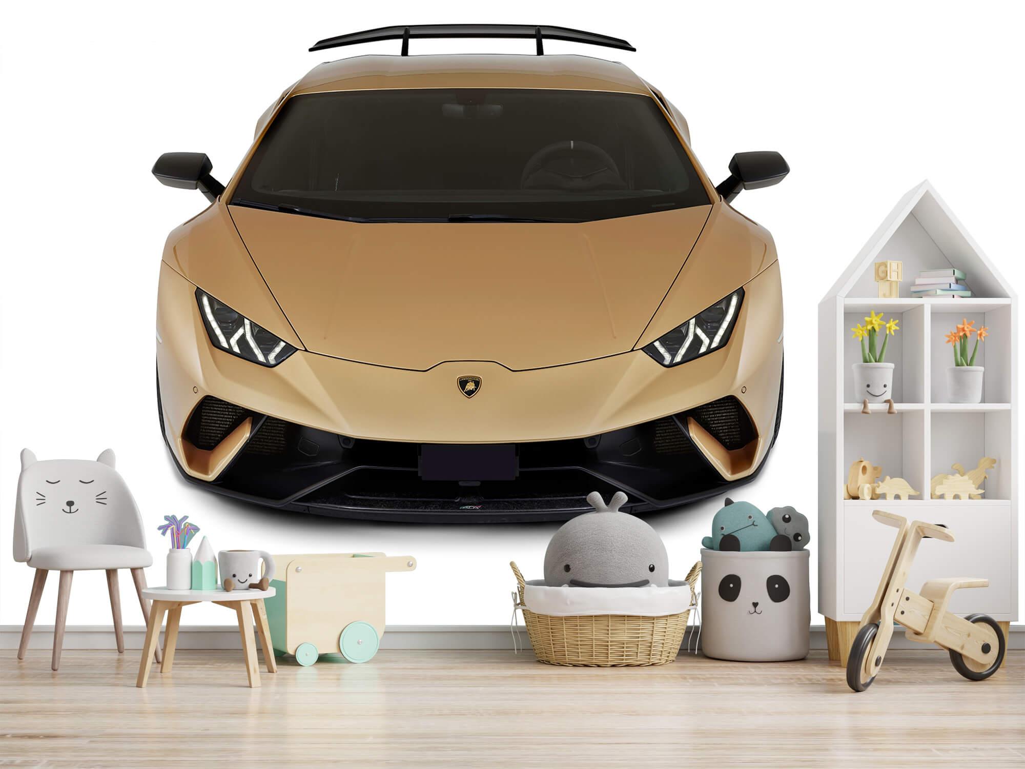 Wallpaper Lamborghini Huracán - Front from above, white 6