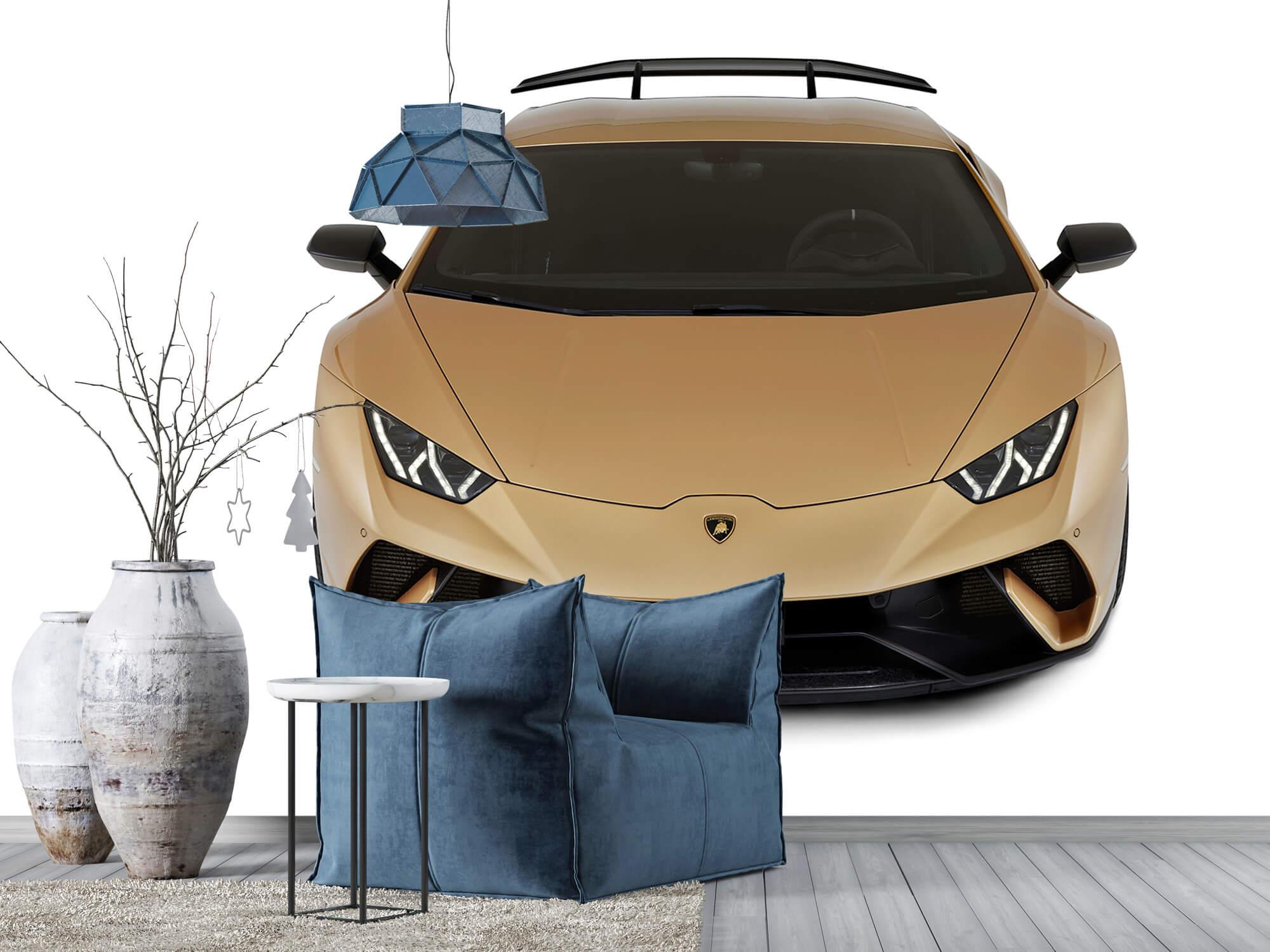 Wallpaper Lamborghini Huracán - Front from above, white 9