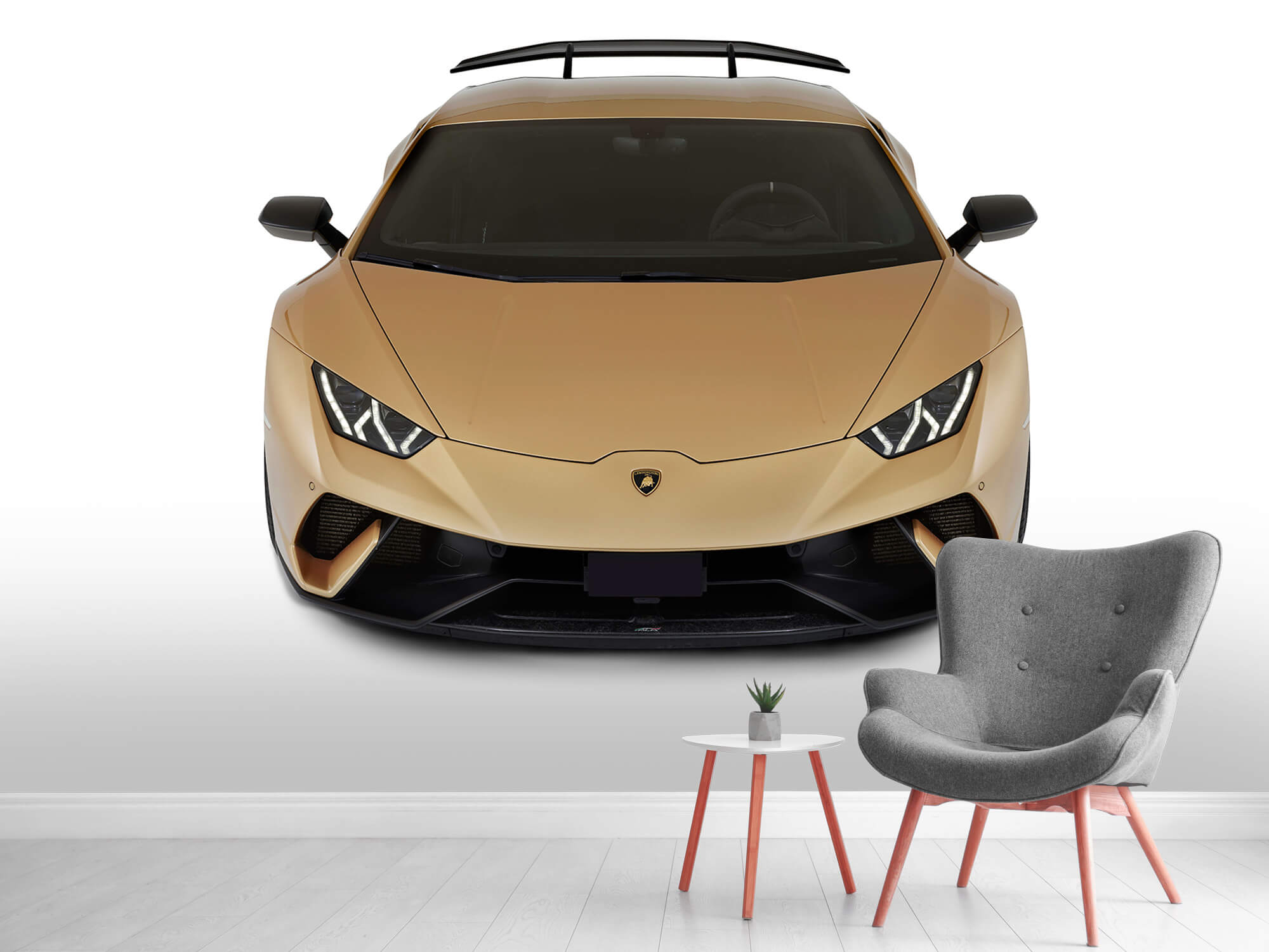 Wallpaper Lamborghini Huracán - Front from above, white 2