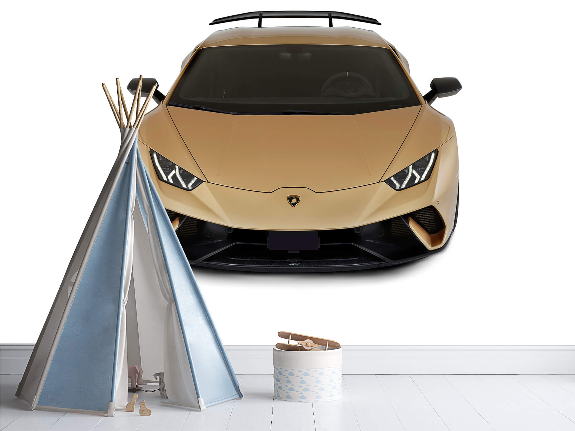 Wallpaper Lamborghini Huracán - Front from above, white 5