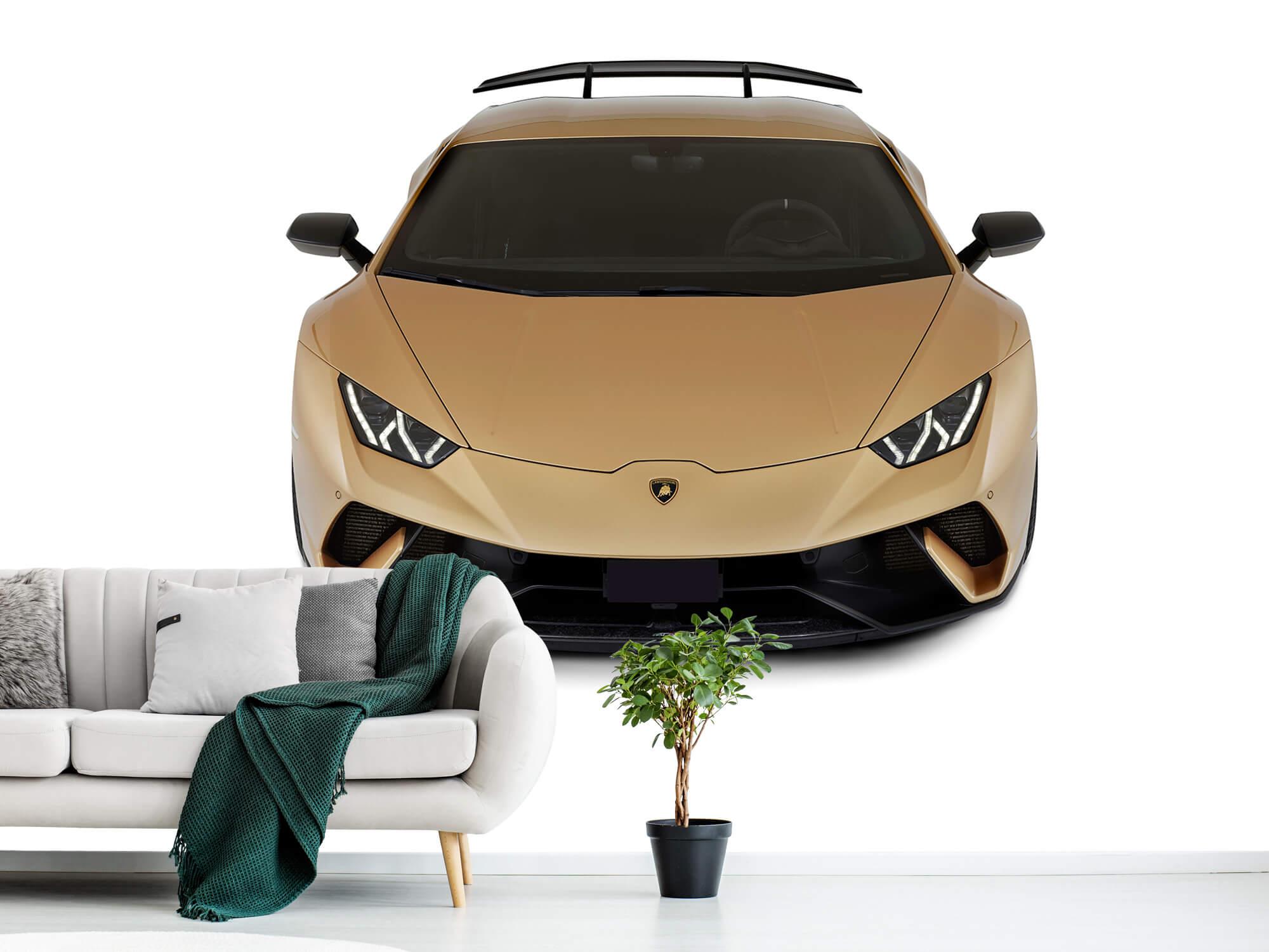 Wallpaper Lamborghini Huracán - Front from above, white 1