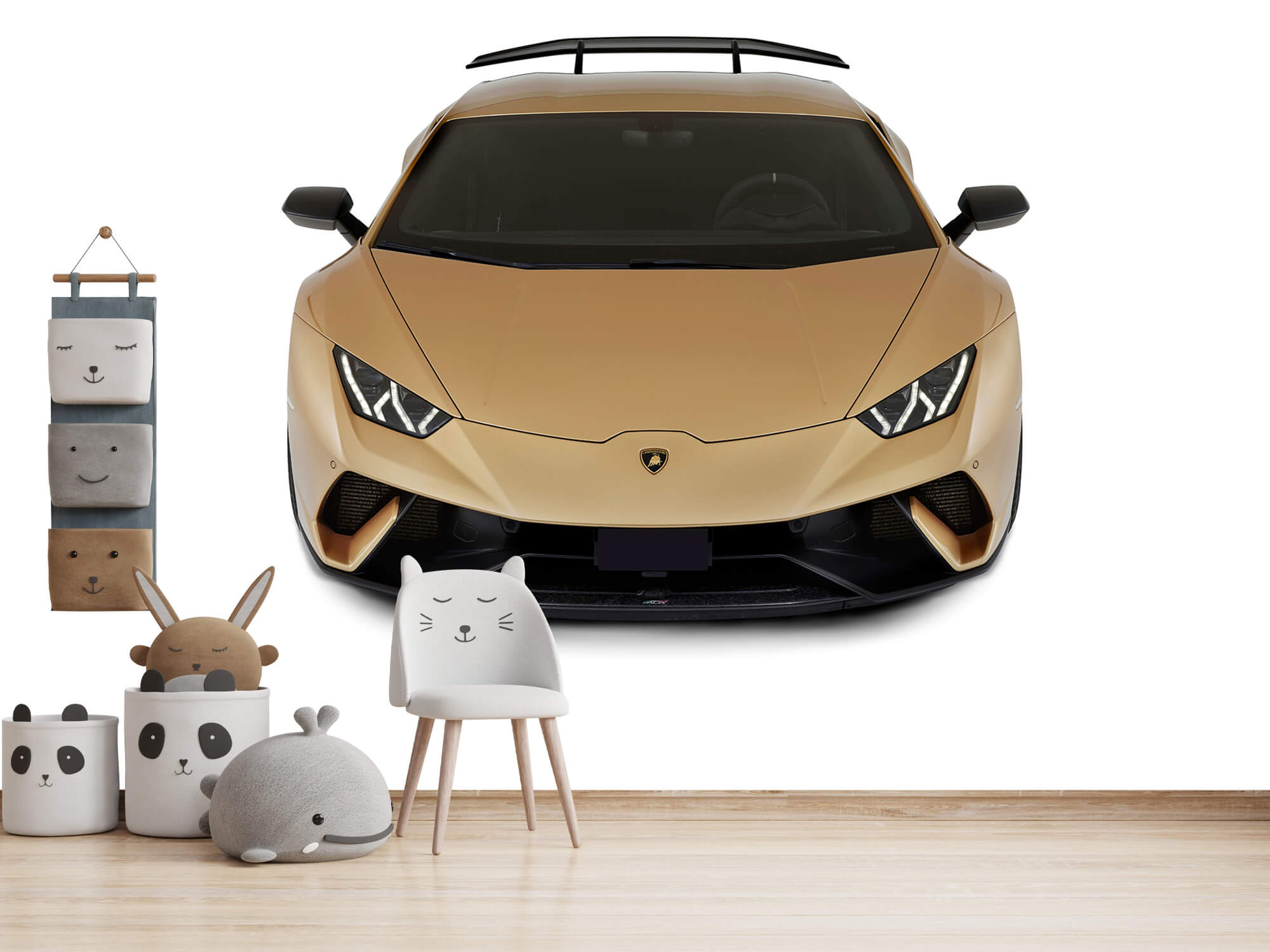 Wallpaper Lamborghini Huracán - Front from above, white 8