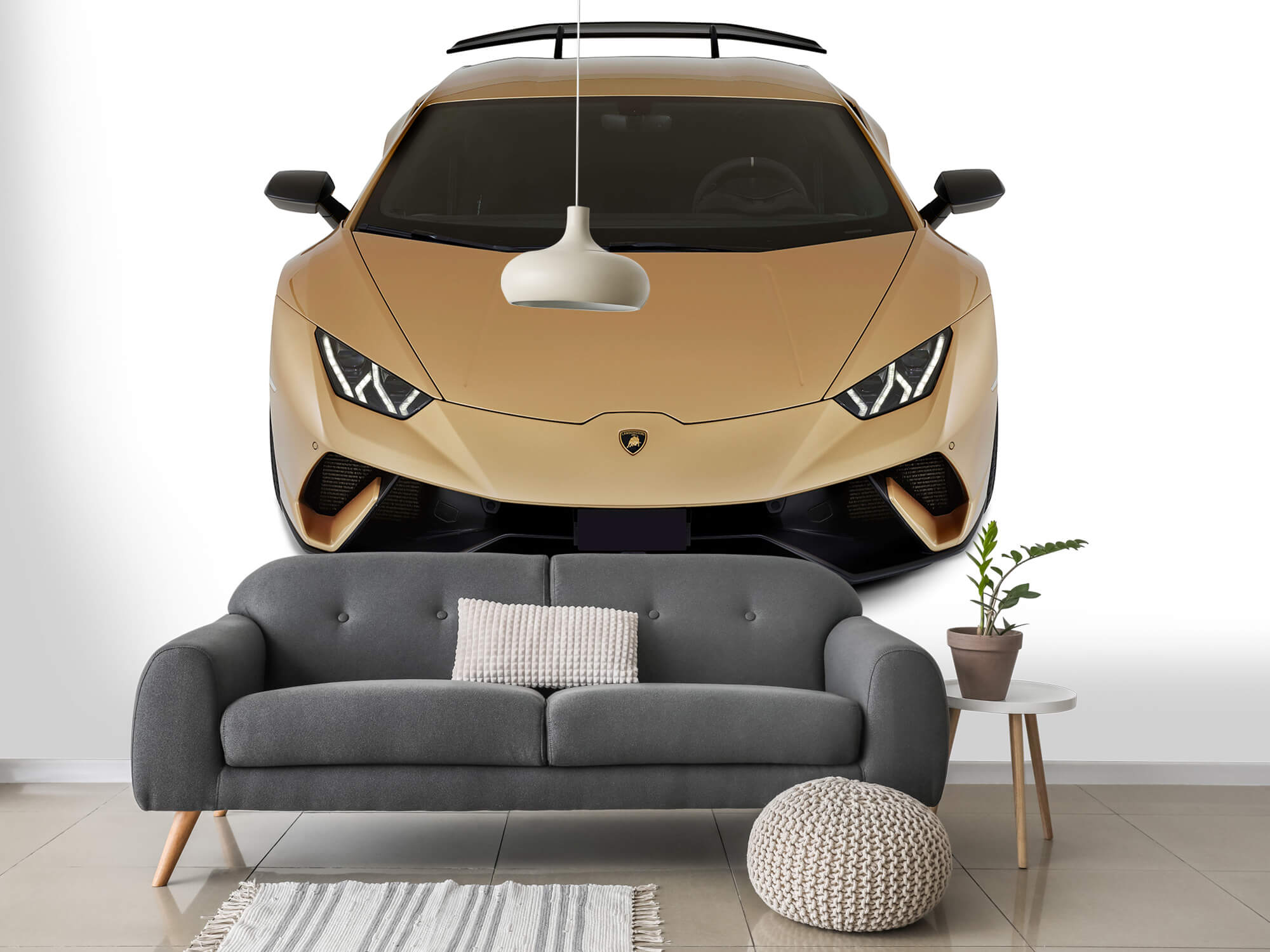 Wallpaper Lamborghini Huracán - Front from above, white 14